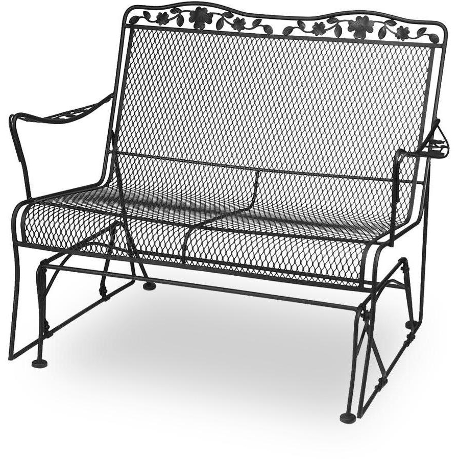 Loveseat Glider Benches With Cushions Throughout Preferred Metal Porch Glider With Cushions (View 13 of 30)