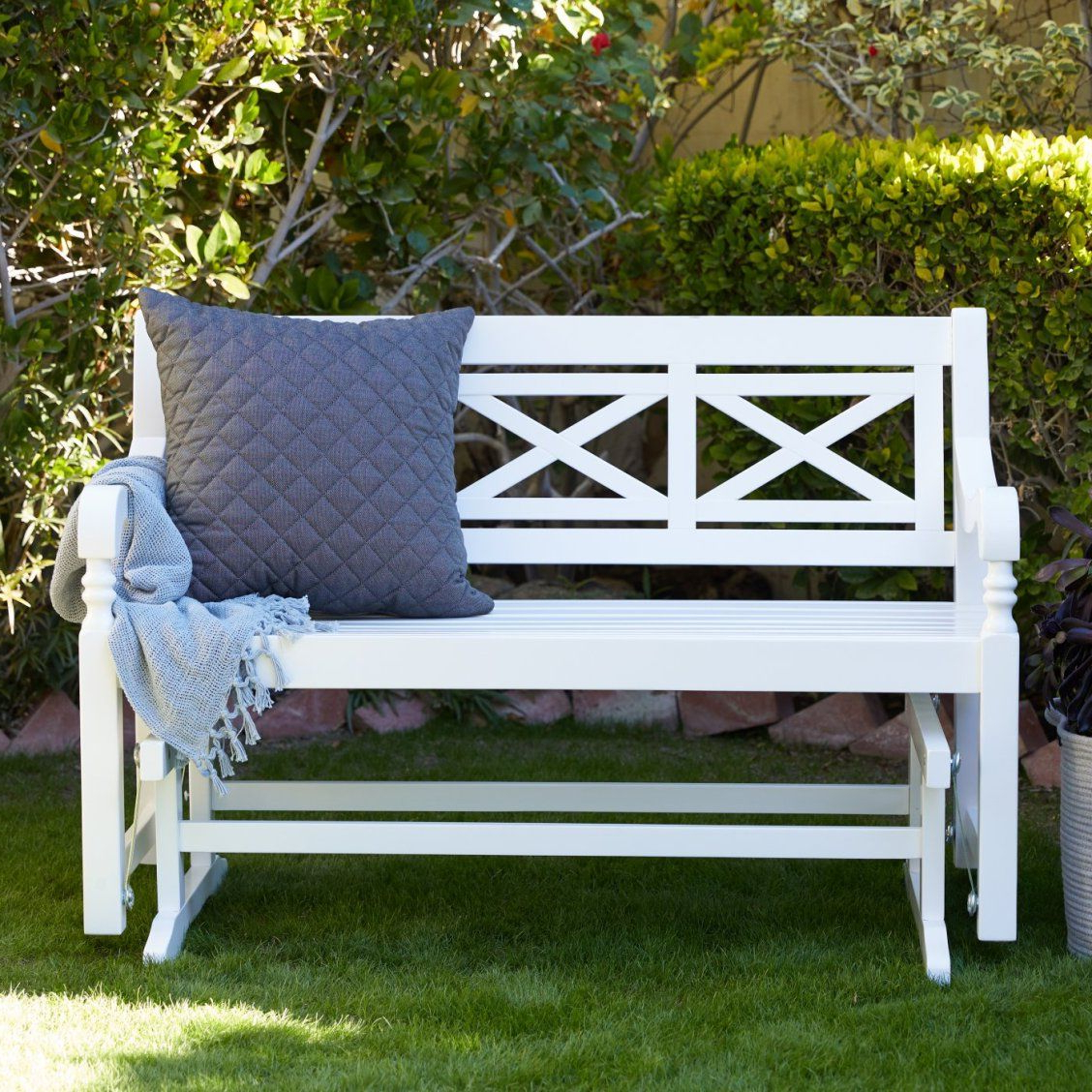 Low Back Glider Benches With 2019 Belham Living Holland 4 Ft (View 3 of 30)