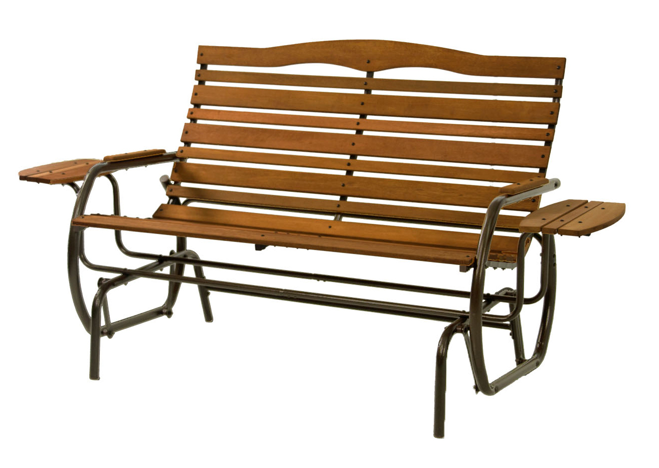 Low Back Glider Benches With Favorite Jack Post Country Garden Glider With Trays In Bronze – Walmart (View 30 of 30)