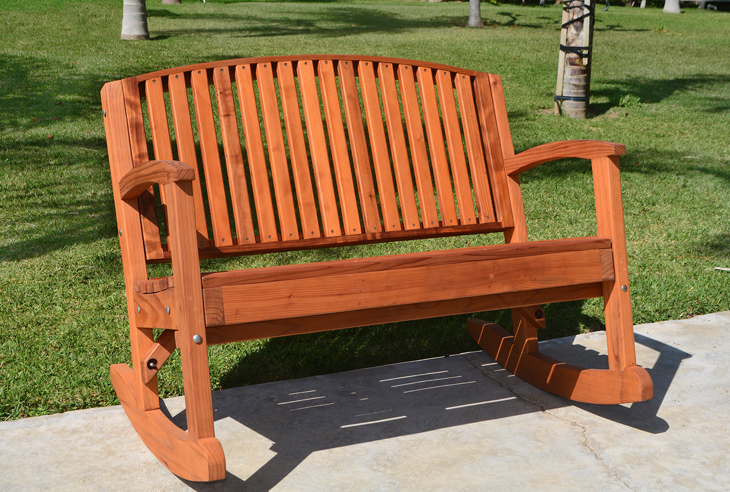 Luna Wood Rocking Bench In Best And Newest Rocking Benches With Cushions (View 7 of 30)