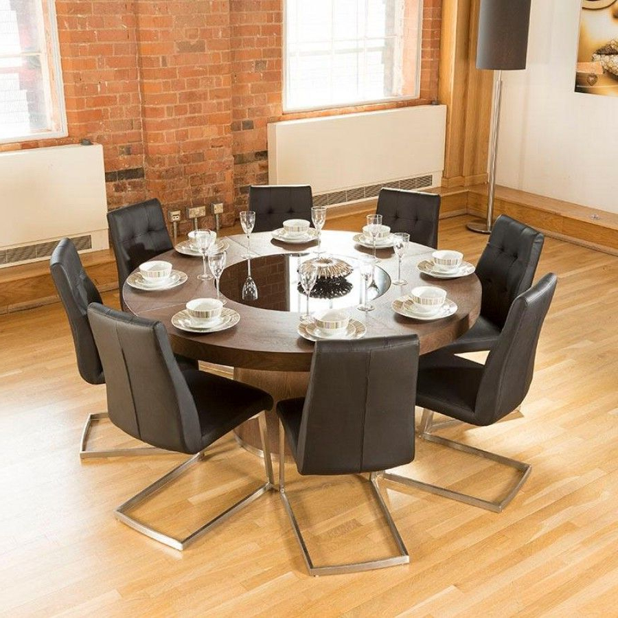 Featured Photo of 8 Seater Wood Contemporary Dining Tables With Extension Leaf