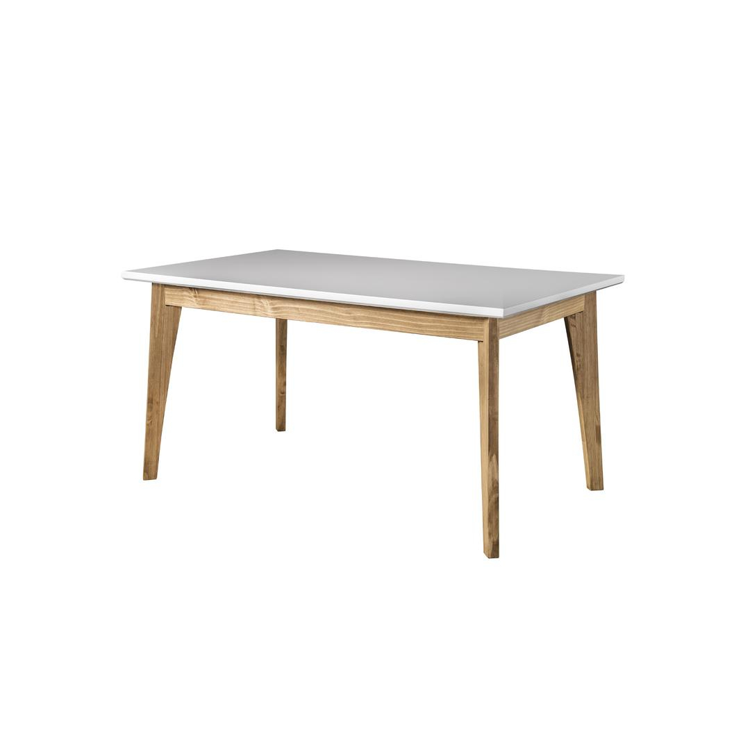 Manhattan Comfort Cs96108 With Regard To Preferred Rustic Mid Century Modern 6 Seating Dining Tables In White And Natural Wood (View 7 of 30)
