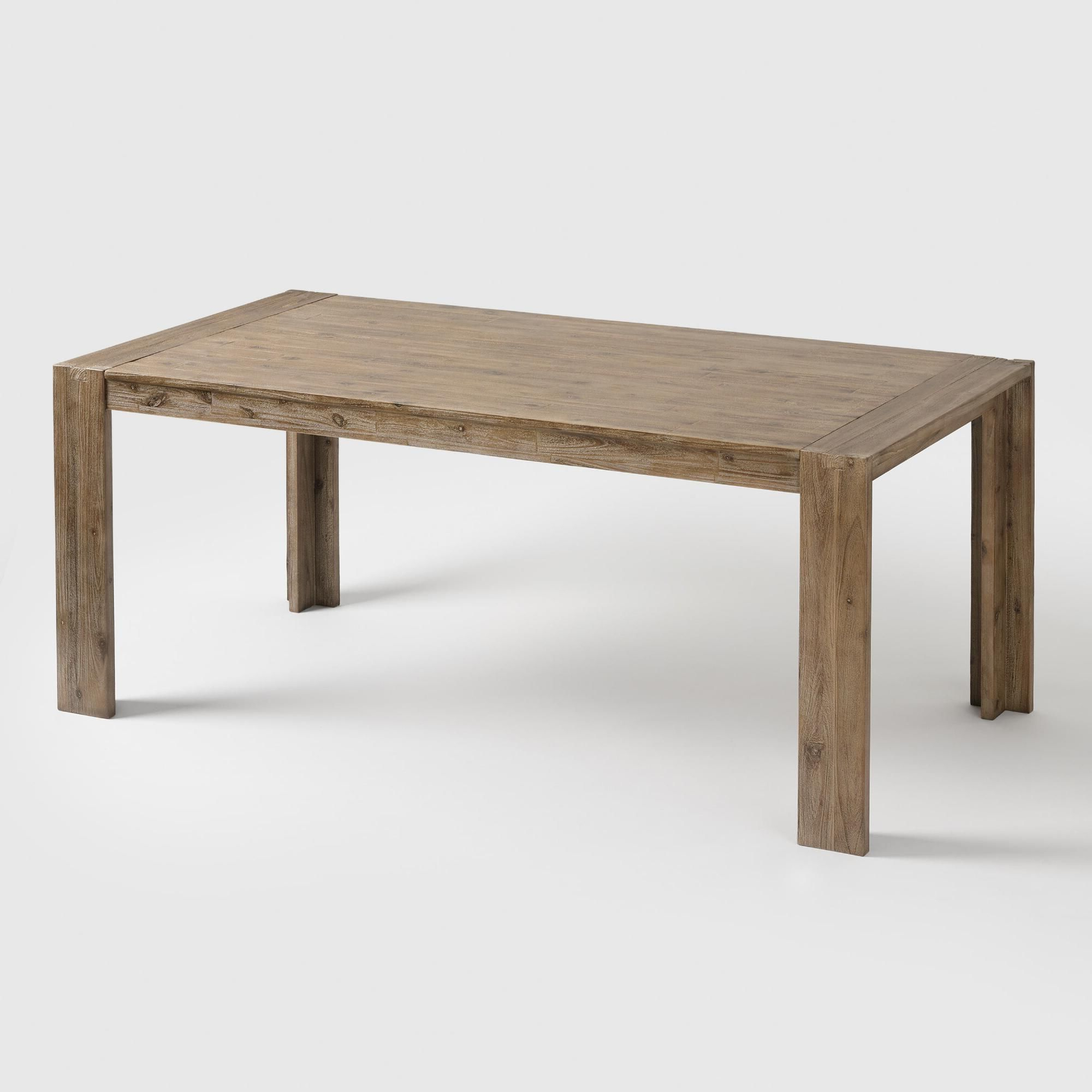 Medium Dining Tables Intended For Latest Natural Wood Finn Dining Table – Mediumworld Market In (View 8 of 30)