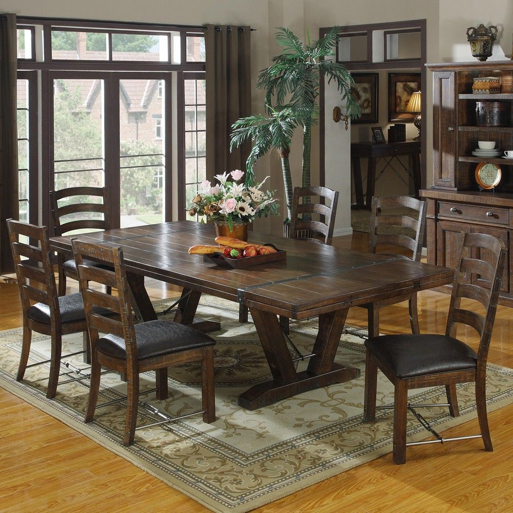 Medium Dining Tables Pertaining To Well Known Castlegate Wood Rectangular Dining Table & Chairs In (View 2 of 30)