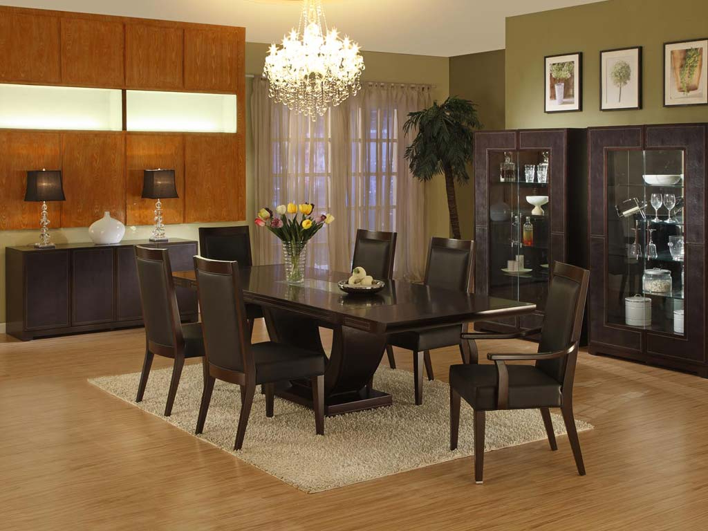 Medium Elegant Dining Tables Intended For Trendy Choosing Contemporary Dining Room Furniture (Gallery 8 of 30)
