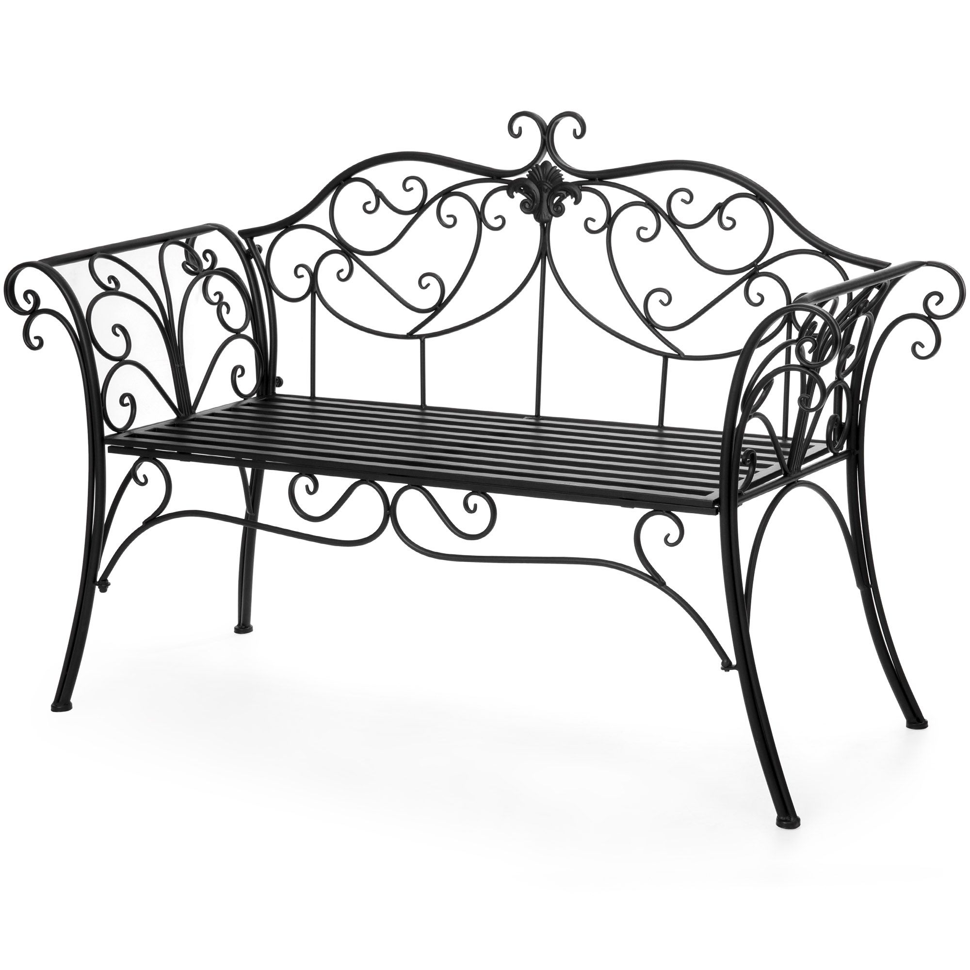 Metal Patio Furniture, Patio Furniture Sets Inside 2 Person Antique Black Iron Outdoor Swings (View 15 of 30)