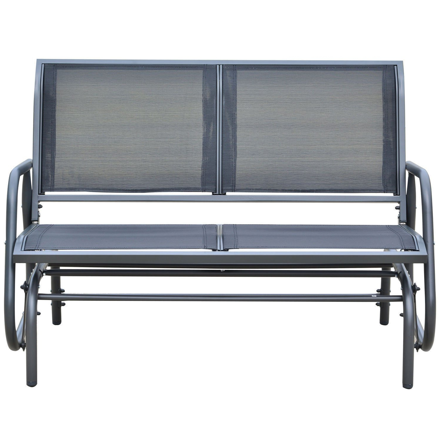 Metal Powder Coat Double Seat Glider Benches Pertaining To Most Current Amazon: Eight24Hours Patio Double 2 Person Glider Bench (Gallery 3 of 30)