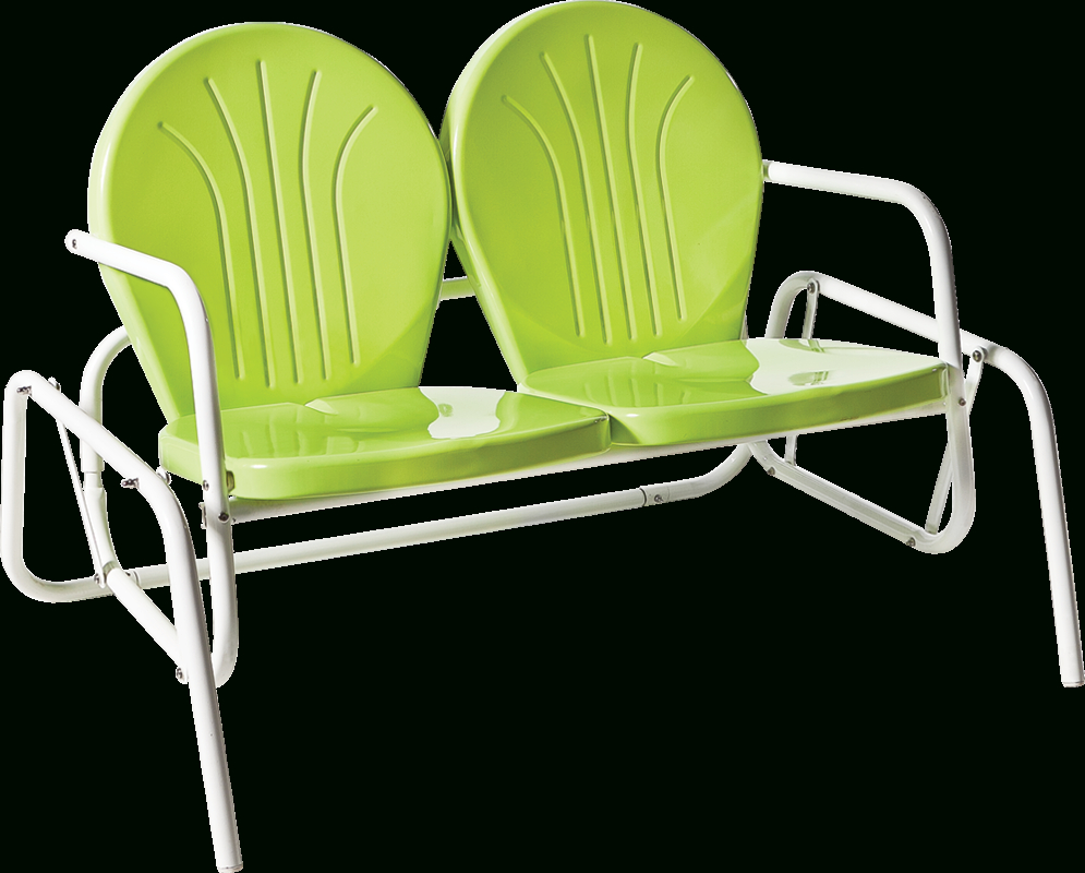 Metal Powder Coat Double Seat Glider Benches With Newest Bellaire Double Glider (Gallery 28 of 30)
