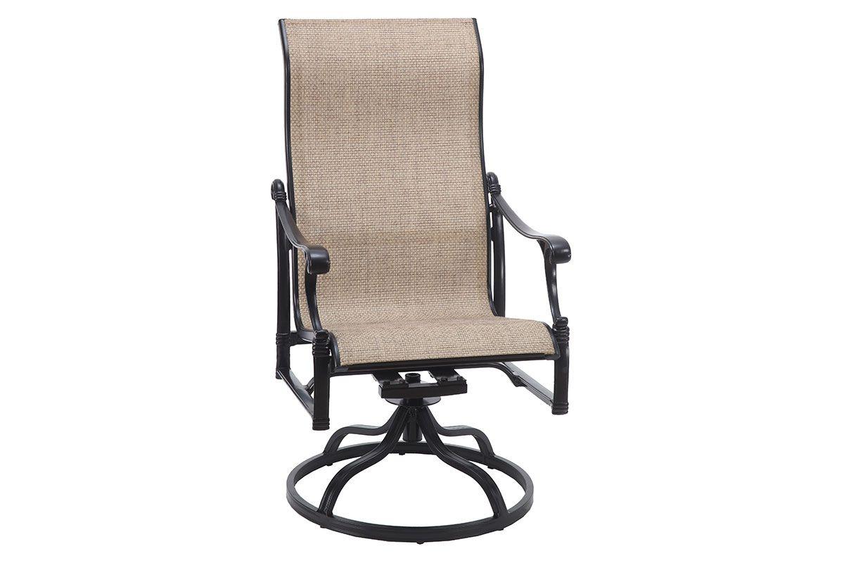 Michigan Sling High Back Swivel Rocker 50140011 Intended For Most Popular Padded Sling High Back Swivel Chairs (Gallery 29 of 30)