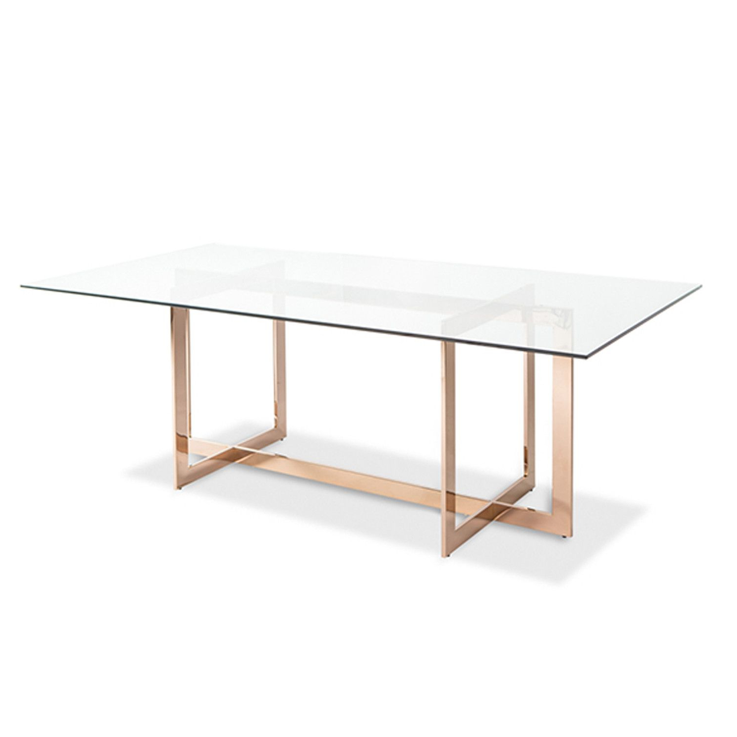 Modern Dining Table Intended For Glass Dining Tables With Metal Legs (View 6 of 30)