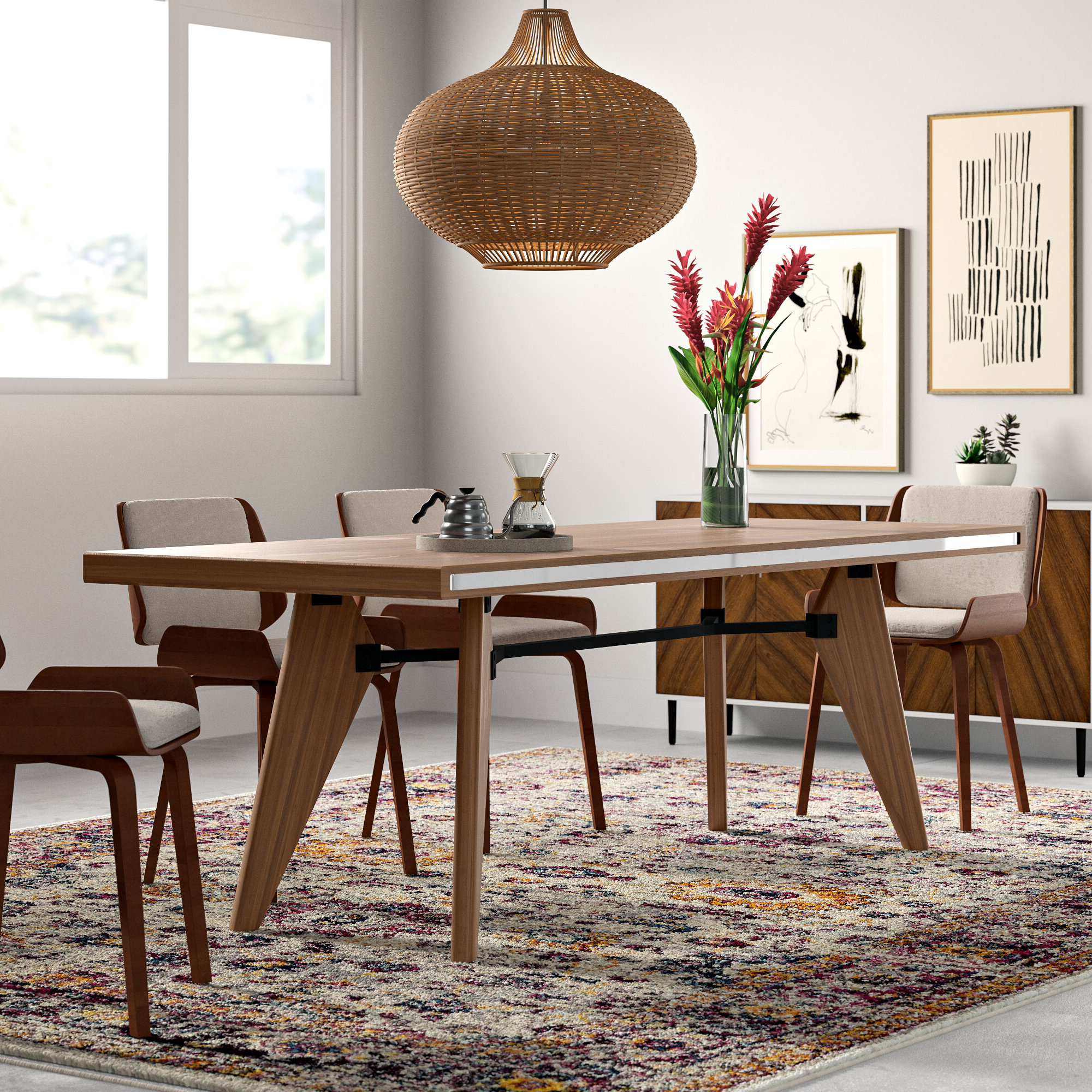 Modern Dining Tables With Best And Newest Kai Solid Wood Dining Table (View 19 of 30)