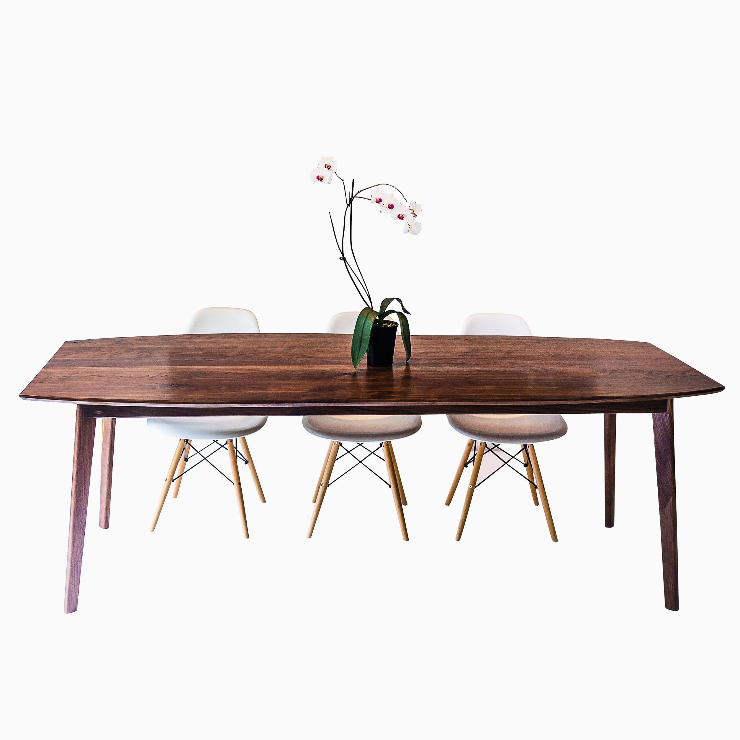 Modern Dining Tables With Newest The Santa Monica: Solid Black Walnut Dining Table, Mid Century Modern (View 24 of 30)