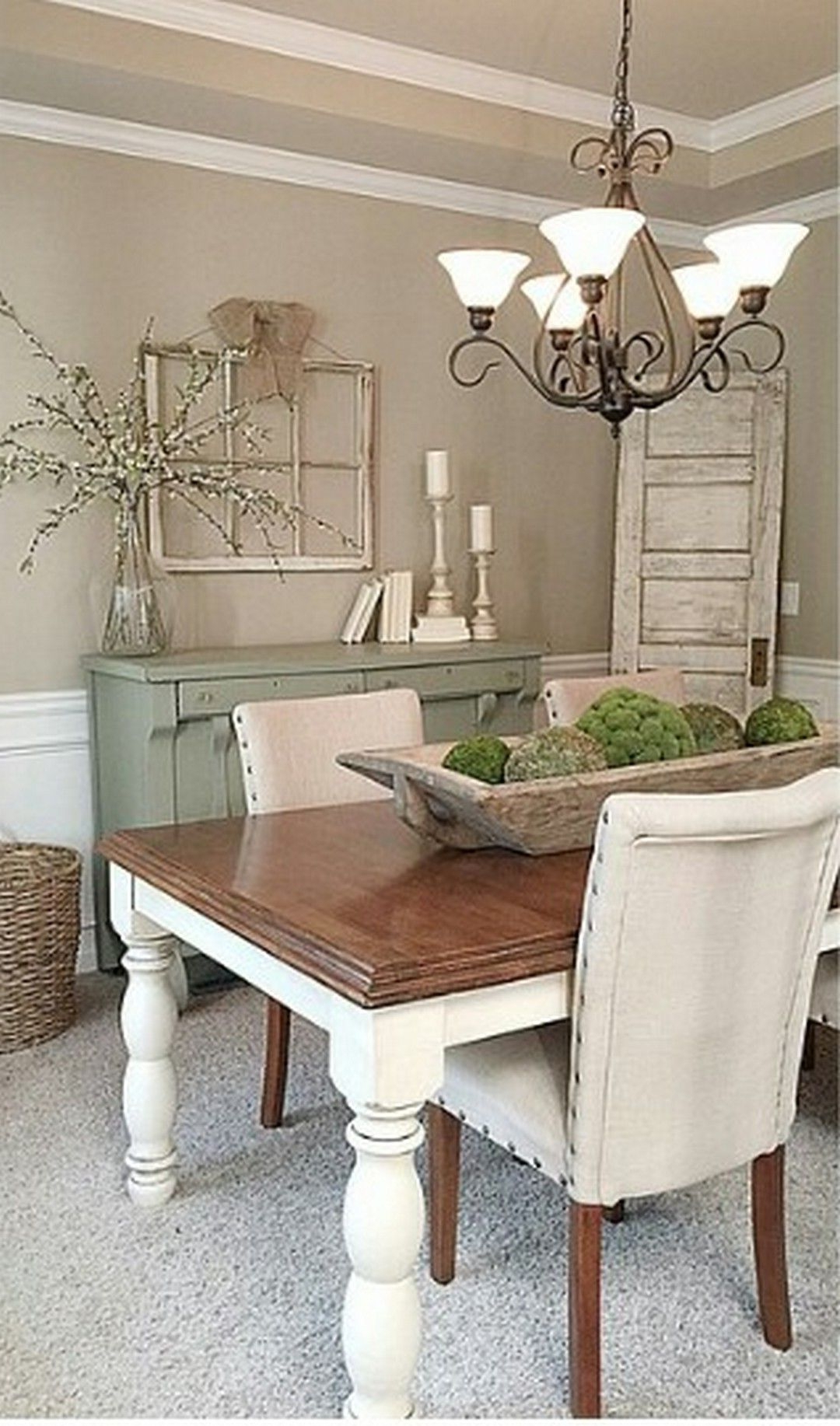Modern Rustic Farmhouse Dining Room Style Home – Saltandblues With Most Recent Small Rustic Look Dining Tables (Gallery 12 of 30)