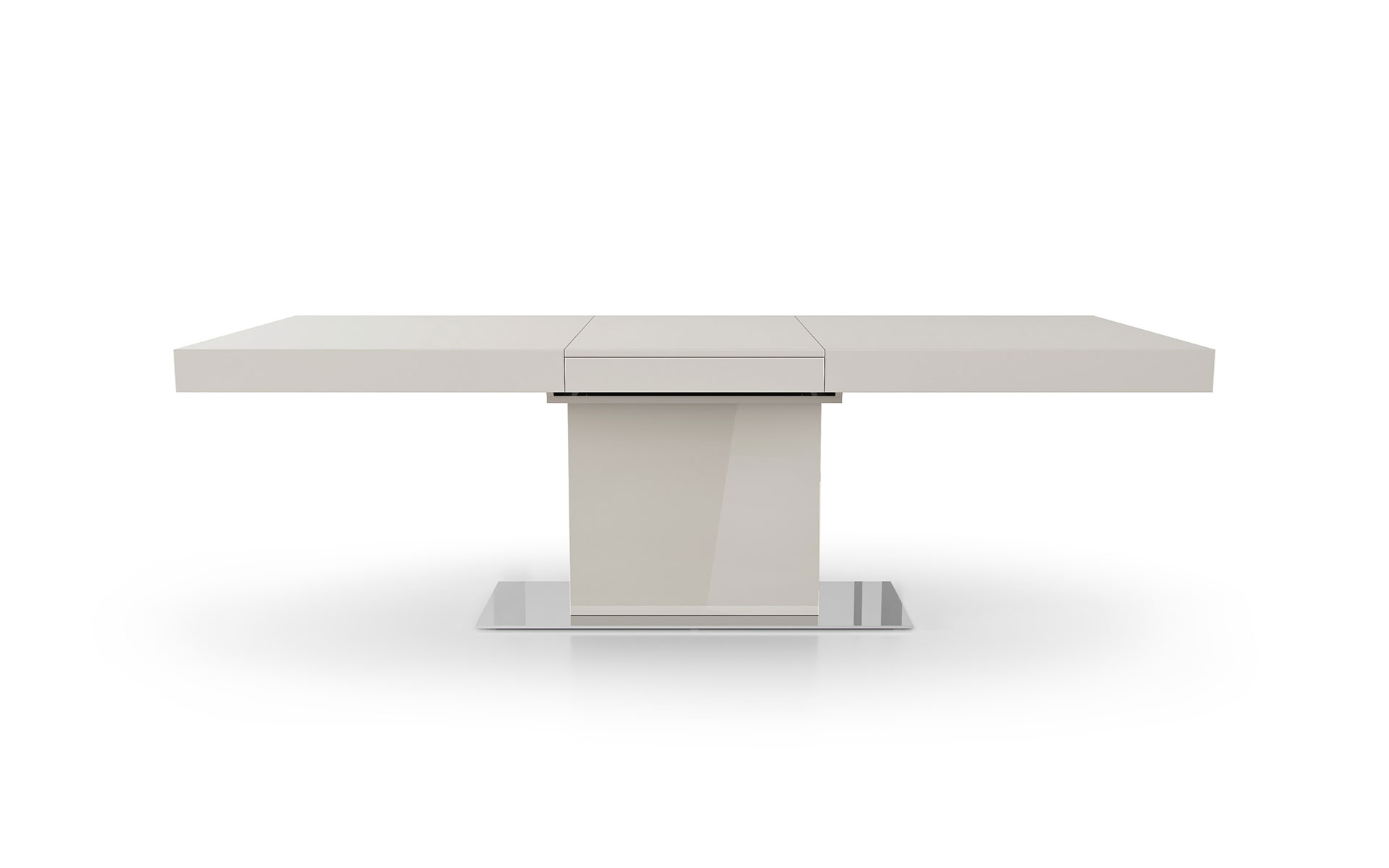 Modloft Astor Dining Table In Most Up To Date Long Dining Tables With Polished Black Stainless Steel Base (View 11 of 30)