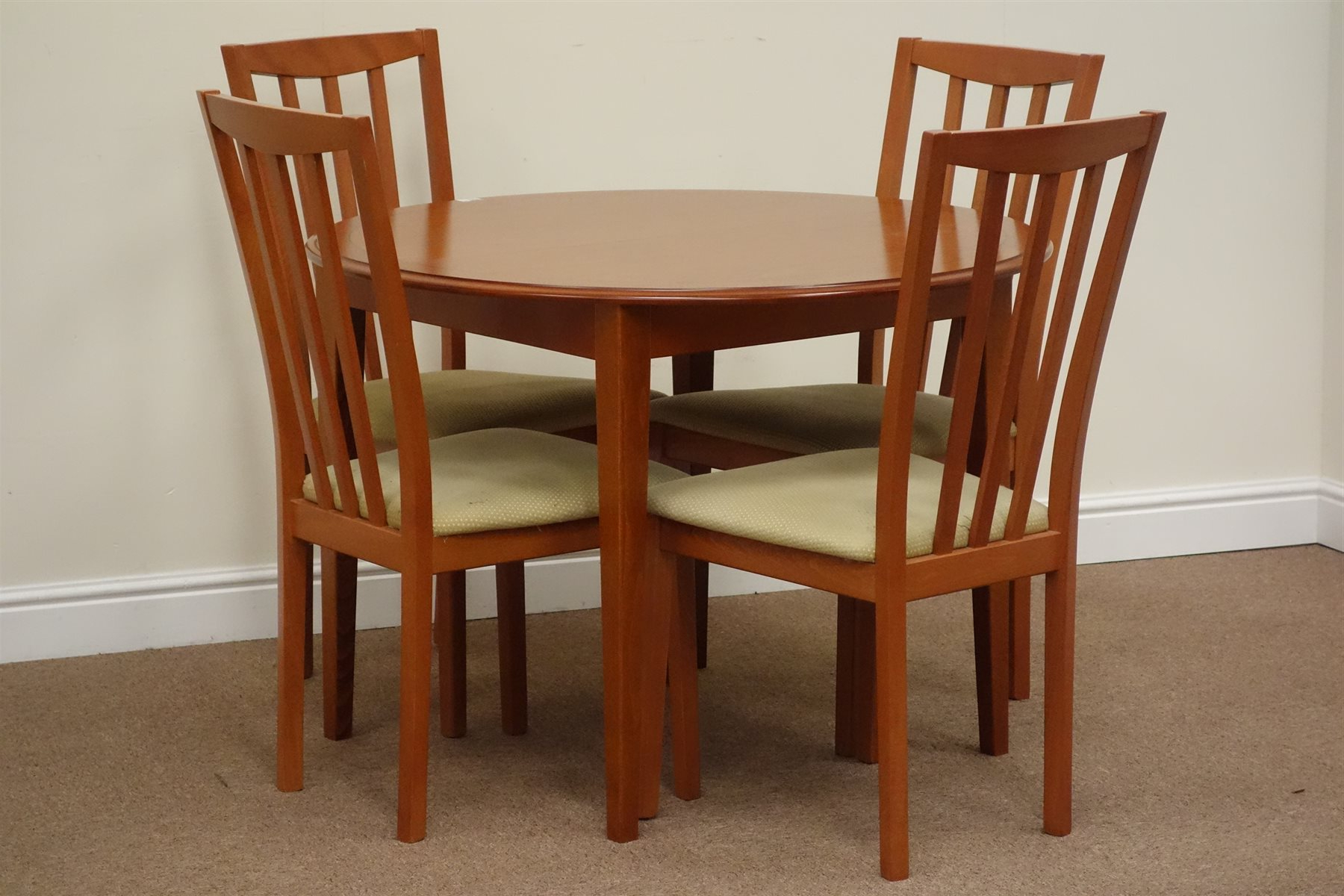 Morris Circular Cherry Wood Extending Dining Table With Fold With Regard To Most Recently Released Morris Round Dining Tables (View 10 of 30)