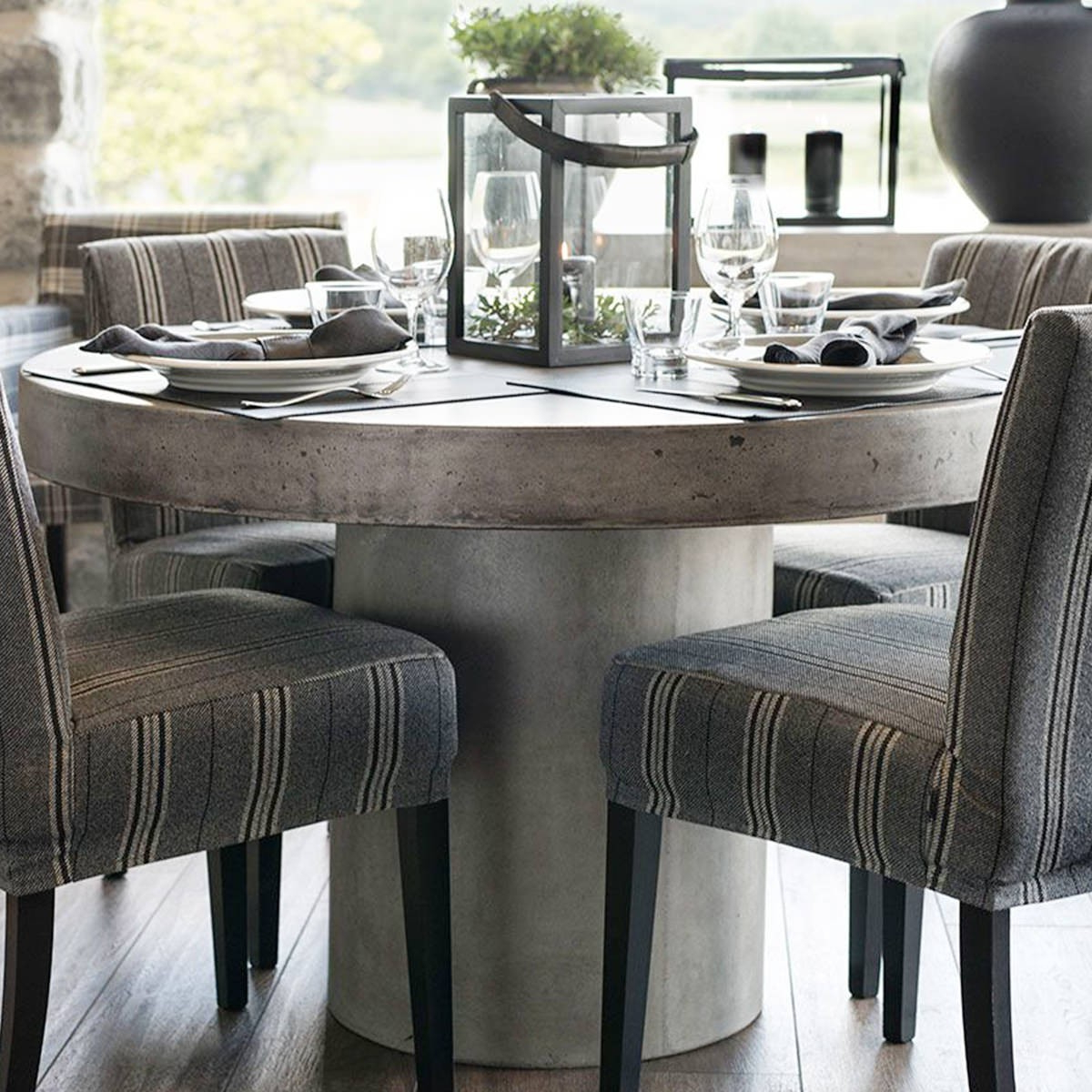 Morris Round Dining Tables Intended For 2018 Artwood Round Dining Table Regent Light Concrete (Gallery 25 of 30)