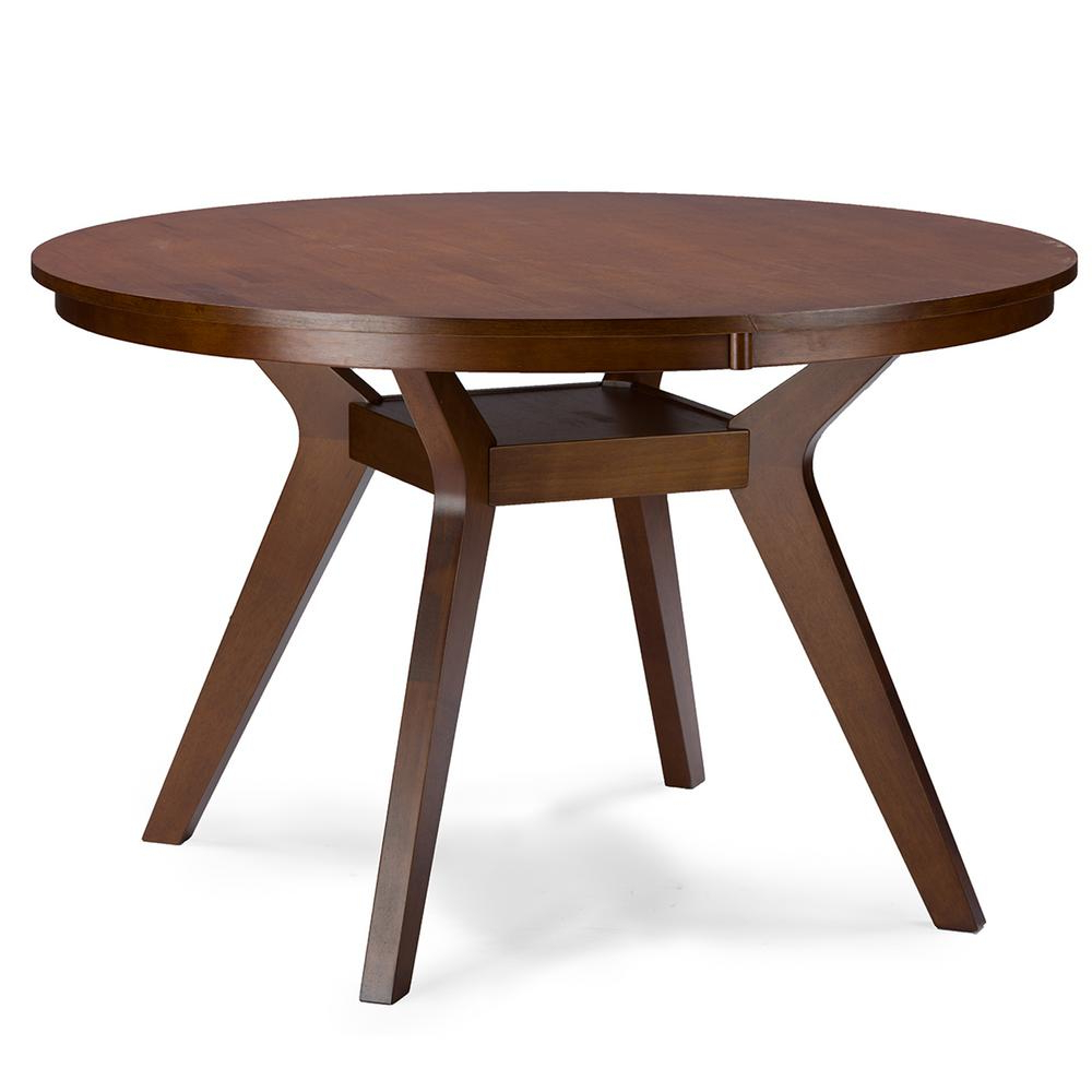 Most Current Baxton Studio Flamingo Medium Brown Dining Table 28862 6138 Regarding Medium Dining Tables (View 21 of 30)