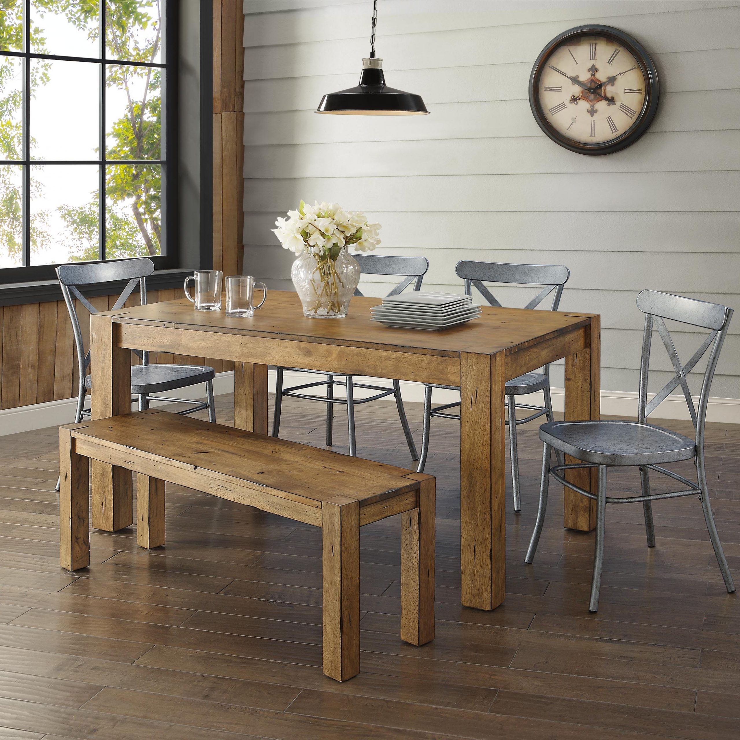 Most Current Better Homes & Gardens Bryant Dining Table, Rustic – Walmart With Regard To Small Dining Tables With Rustic Pine Ash Brown Finish (Gallery 13 of 30)