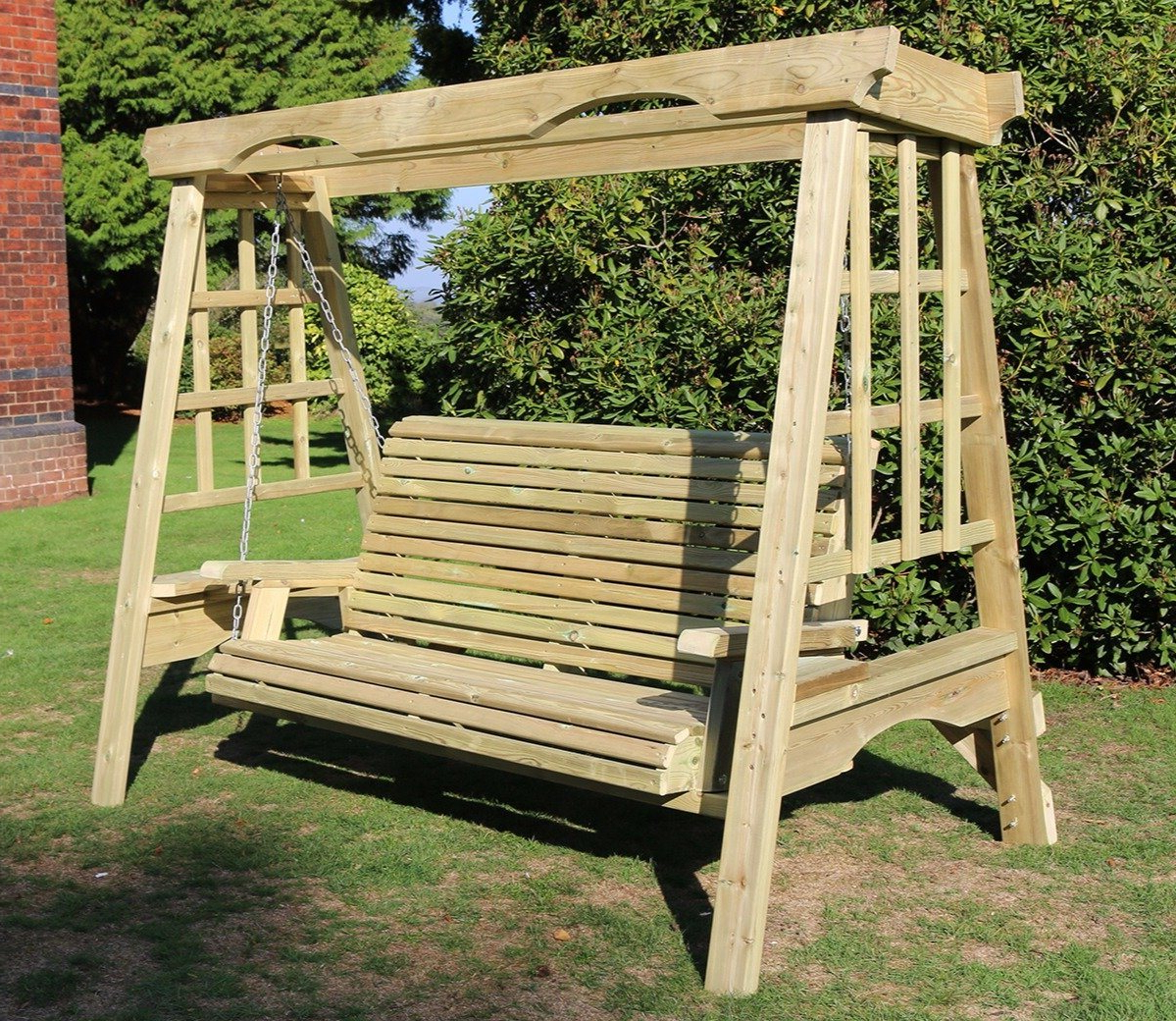 Most Current Churnet Valley Cottage 3 Seater Swing Within 3 Seat Pergola Swings (Gallery 7 of 30)