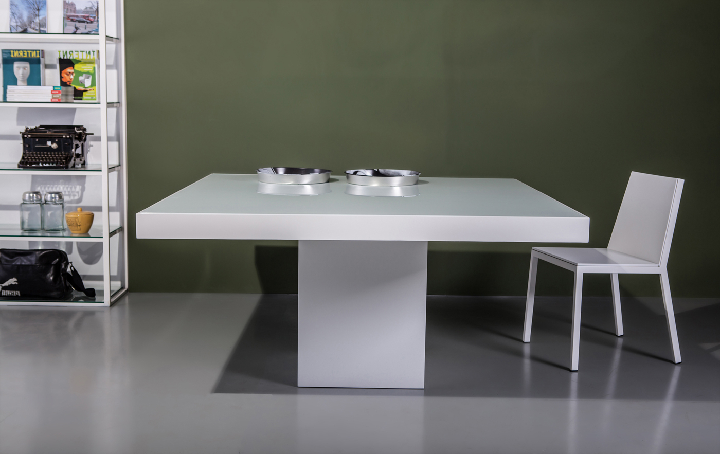 Most Current Contemporary 4 Seating Square Dining Tables Inside Modloft Beech Dining Table (View 18 of 30)