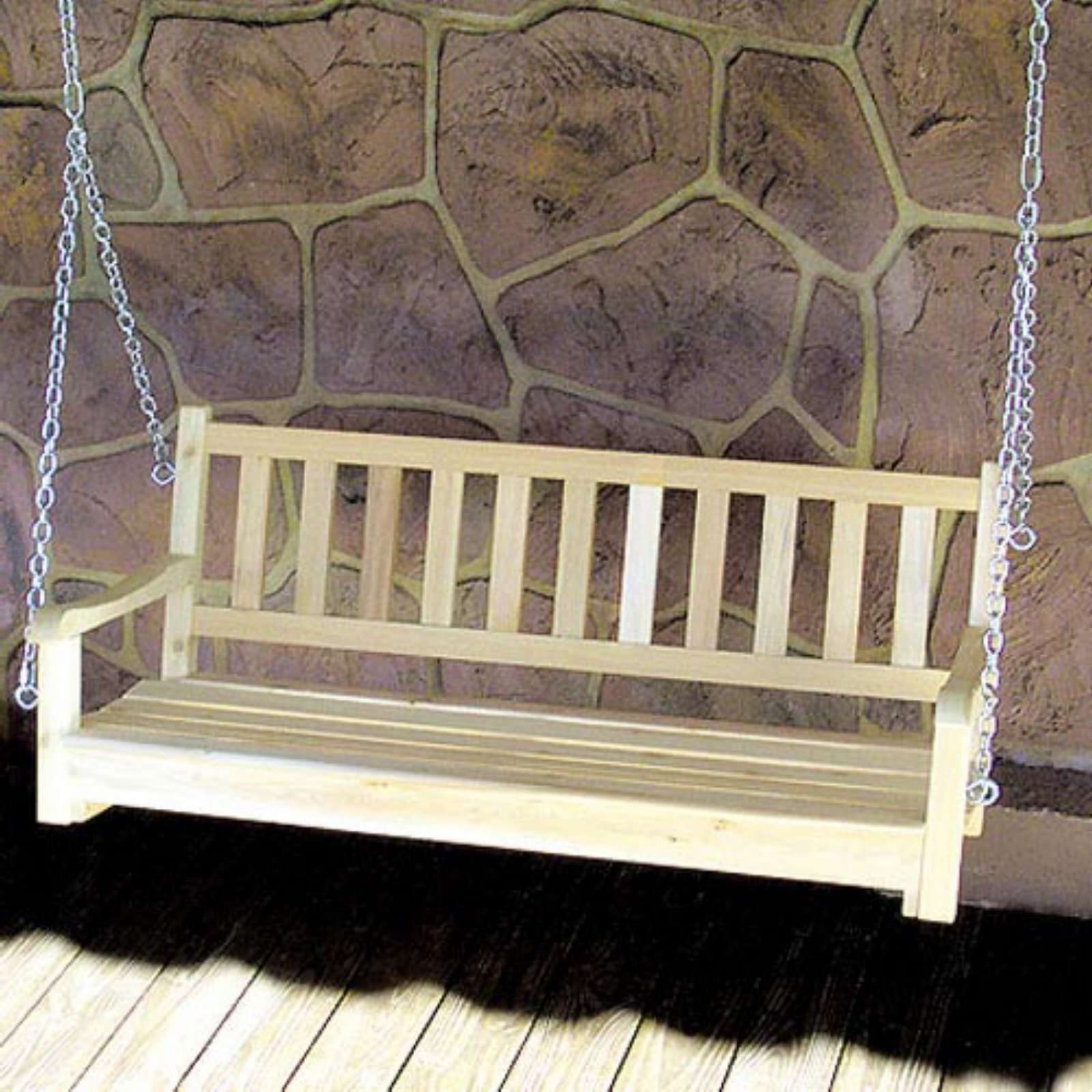 Most Current Contoured Classic Porch Swings Pertaining To Tidewater Workshop American Classic Porch Swing – Walmart (Gallery 11 of 30)