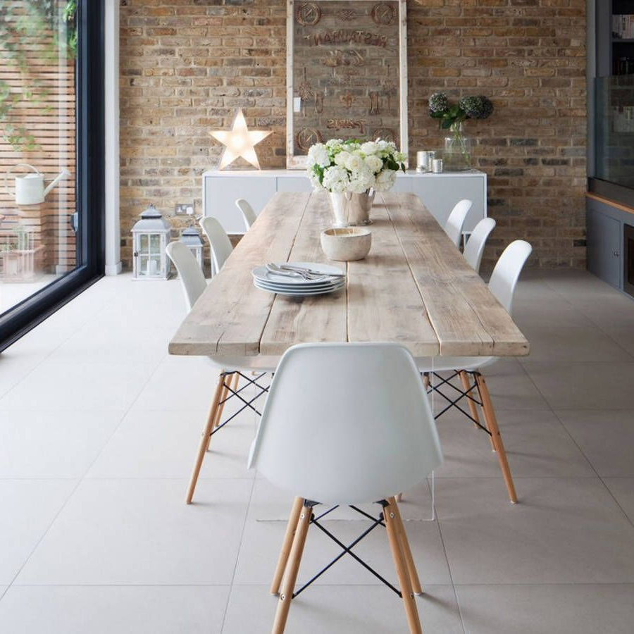 Most Current Eames Style Dining Tables With Wooden Legs Pertaining To A White Dining Chair Set Of Four (View 19 of 30)