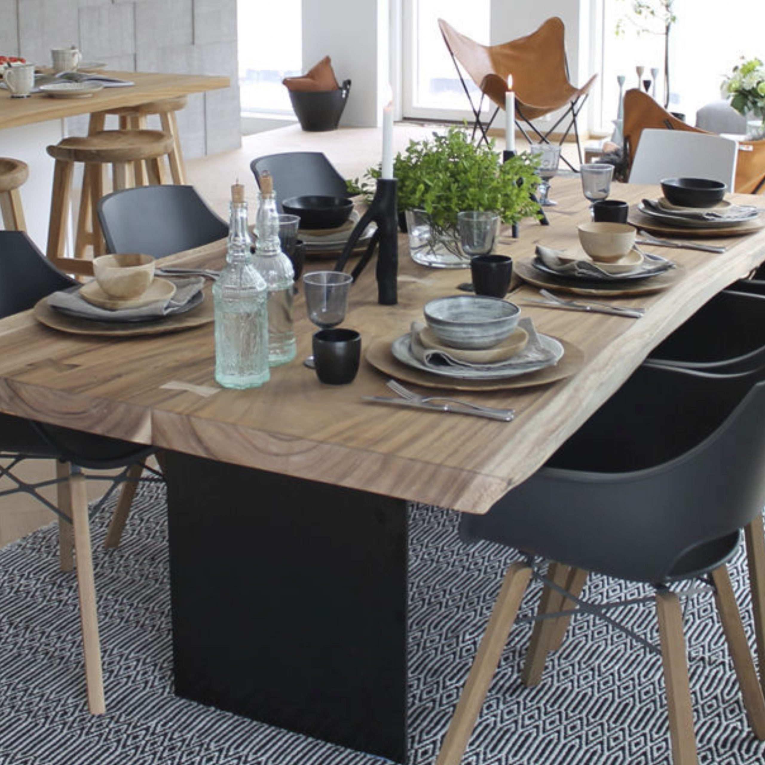 Most Current Eames Style Dining Tables With Wooden Legs With Edge Dining Table Stellar – Couture Outdoor (View 20 of 30)