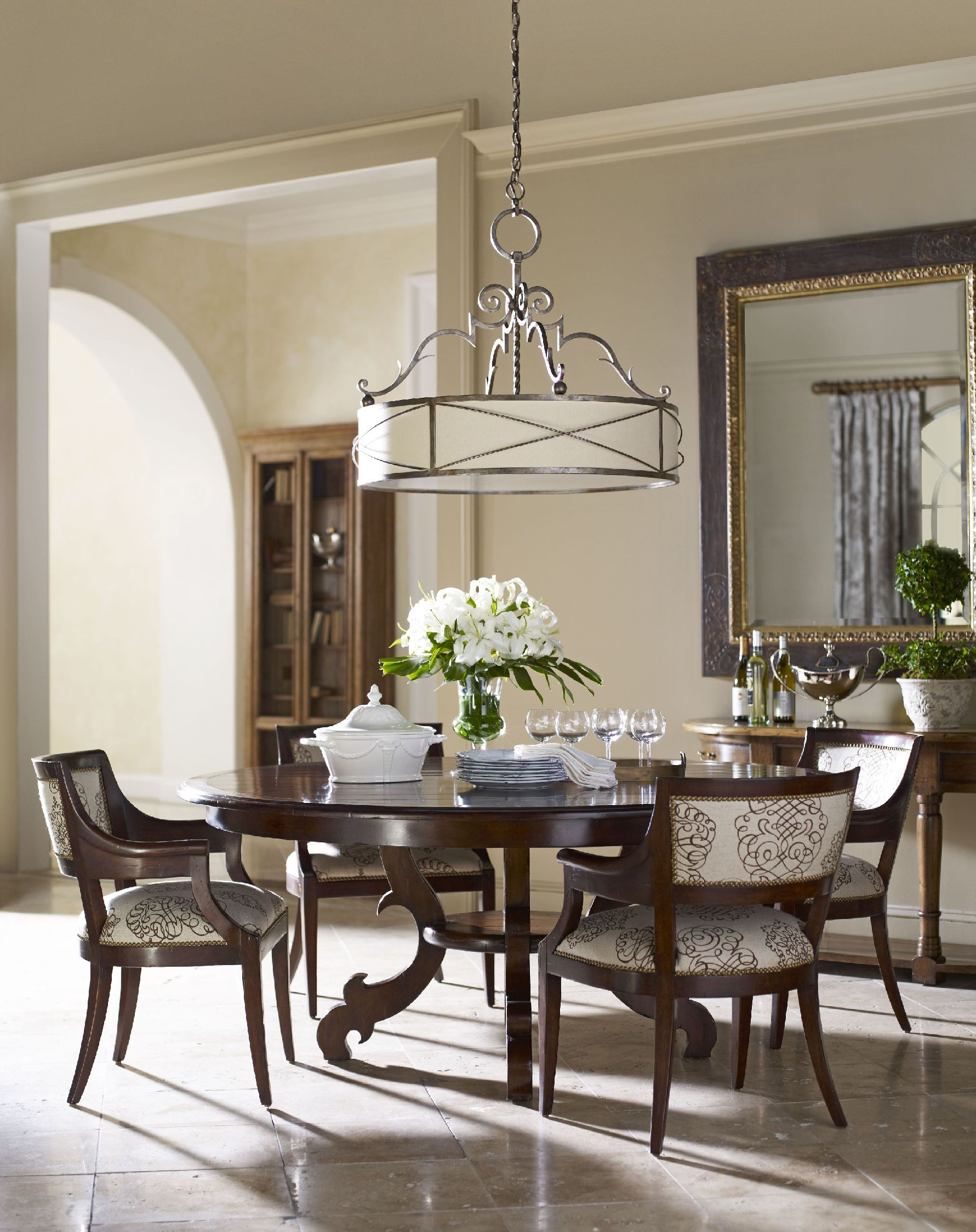 Most Current Elegance Large Round Dining Tables Regarding Dining Roompottery Barn Round Table Give An Elegant Touch In (Gallery 18 of 30)