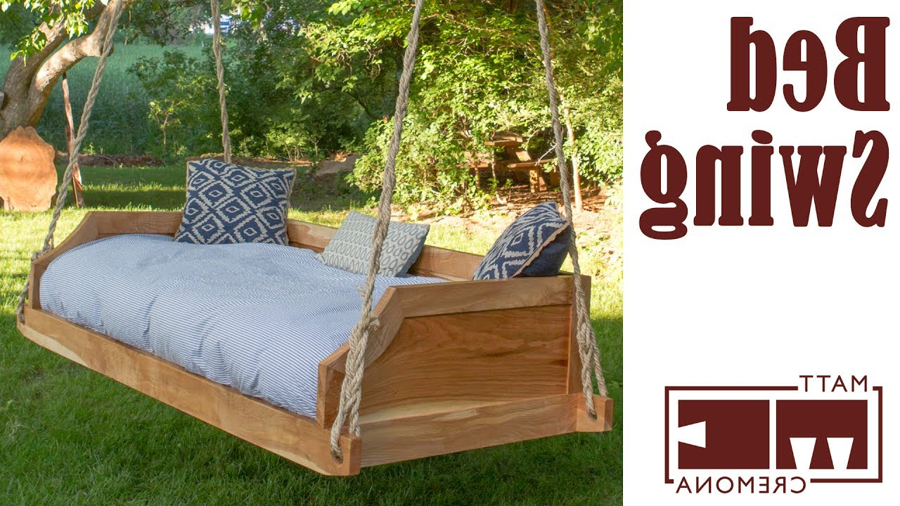 Most Current Hanging Daybed Rope Porch Swings In 12 Diy Swing Bed Ideas To Spruce Up Your Outdoor Space (Gallery 15 of 30)