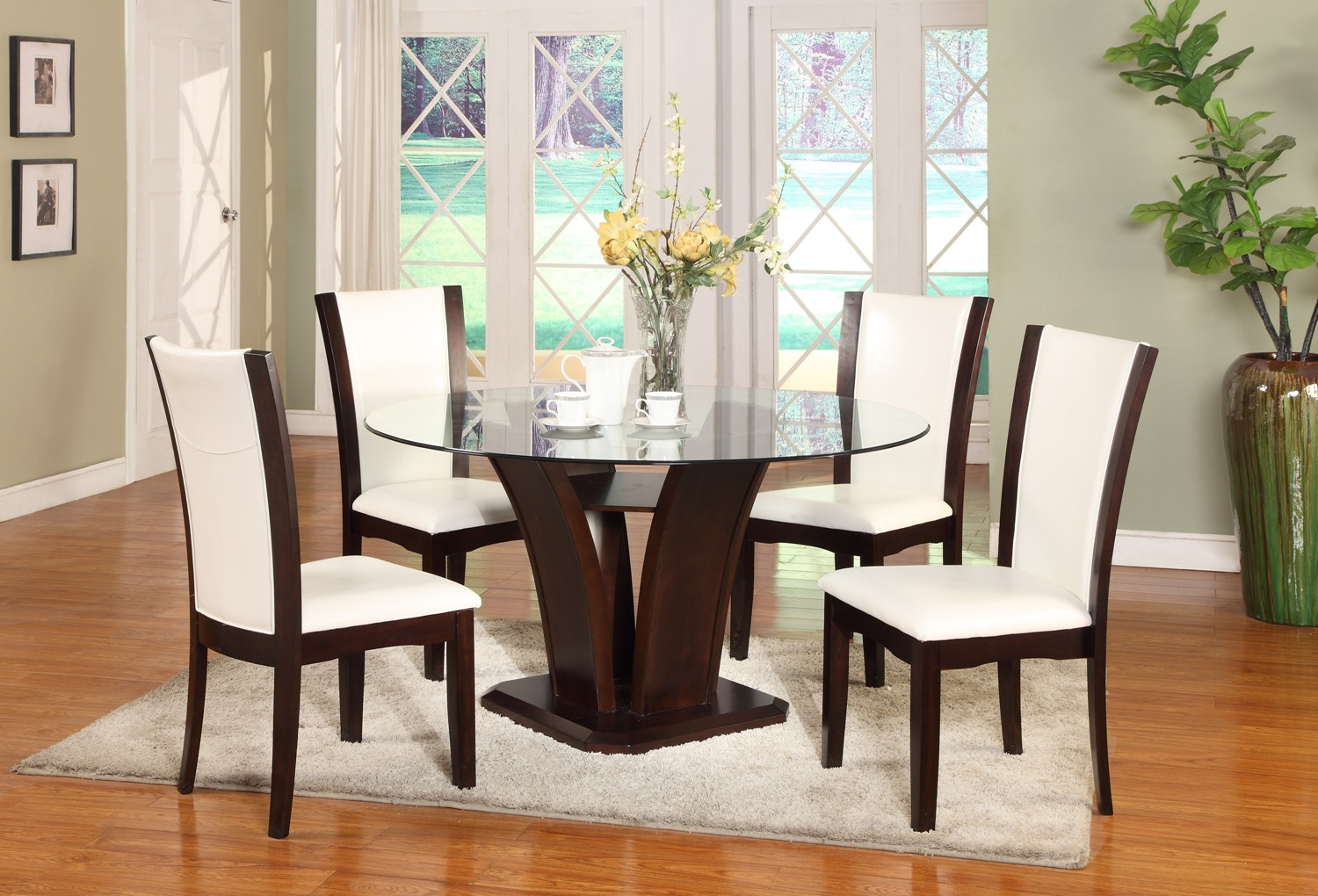 Most Current Manhattan 5Pc Dining Table Intended For Chrome Contemporary Square Casual Dining Tables (Gallery 21 of 30)