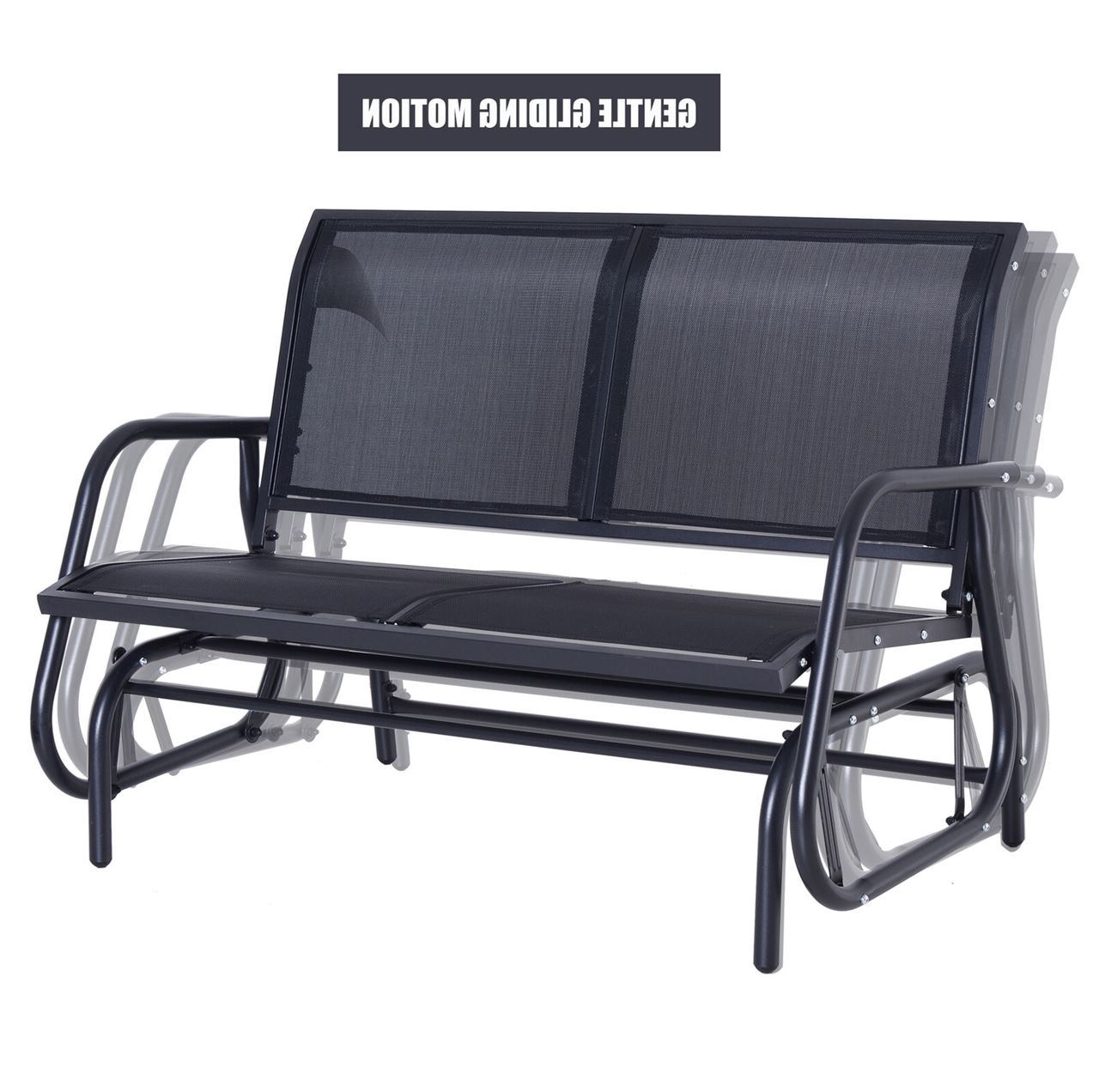 Most Current Outdoor Patio Swing Glider Bench Chair – Dark Gray Within Outdoor Patio Swing Glider Bench Chairs (View 19 of 30)