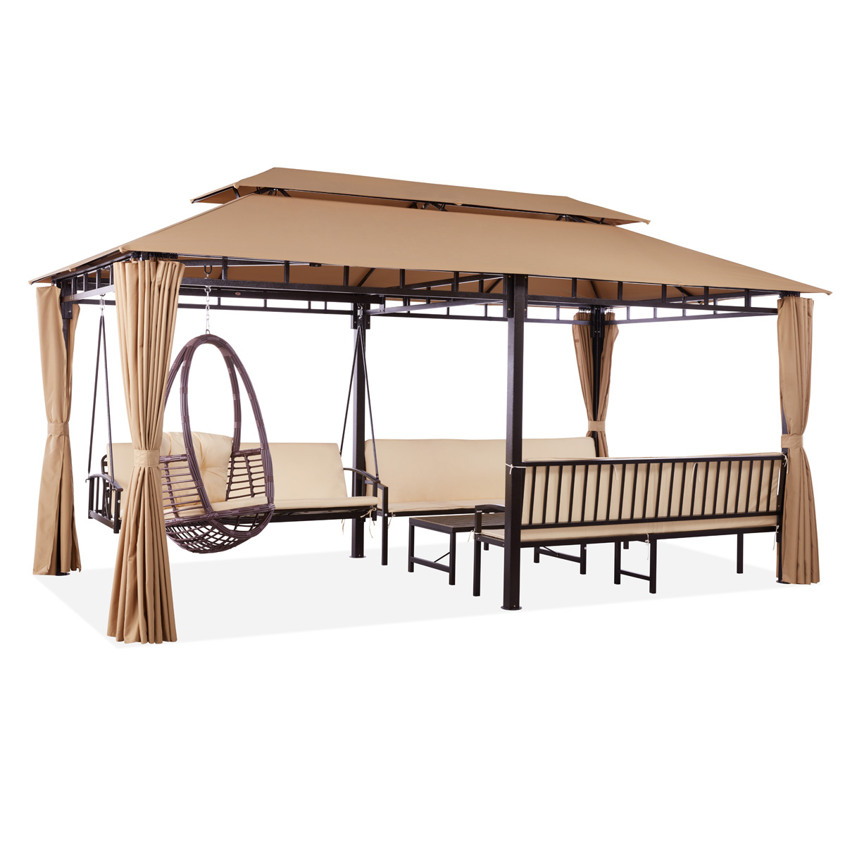 Most Current Patio Gazebo Porch Canopy Swings Within Ajanta All In One Gazebo (Gallery 25 of 30)