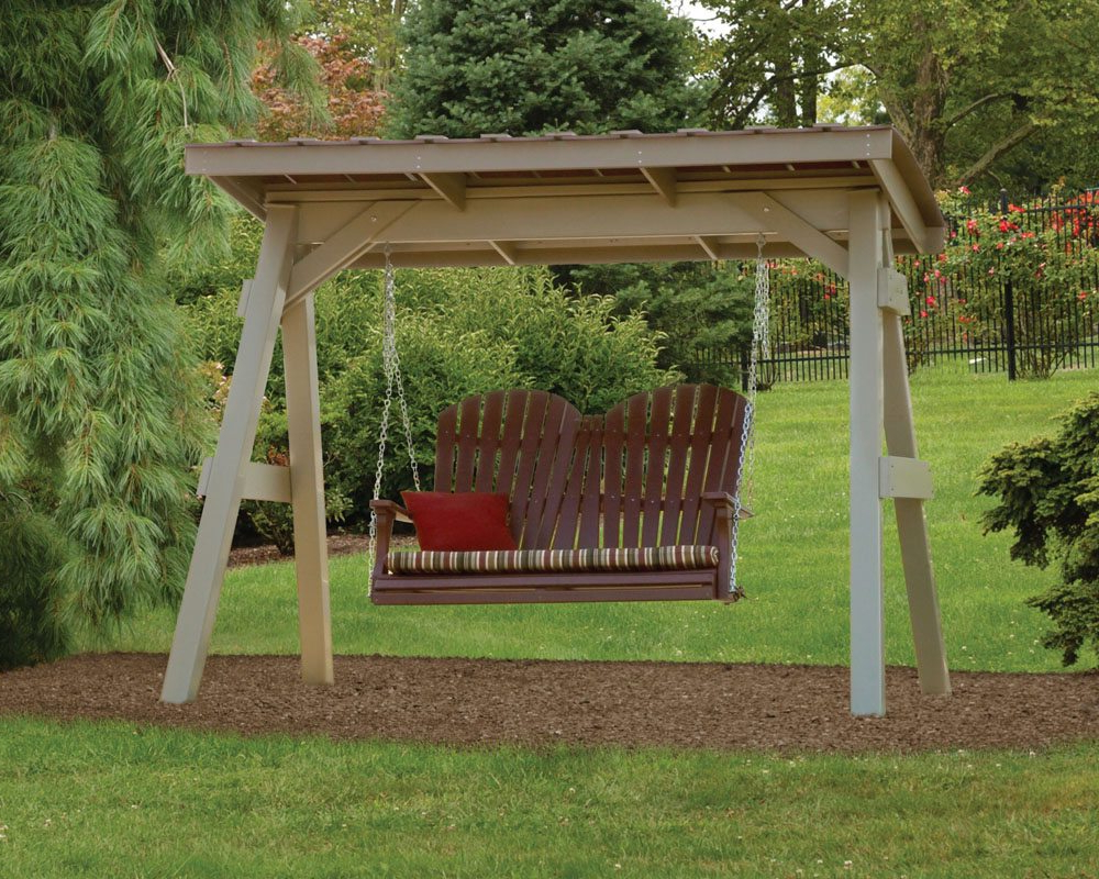 Most Current Pergola Porch Swings With Stand With Regard To Swing A Frame & Roof – Green Acres Outdoor Living (View 29 of 30)