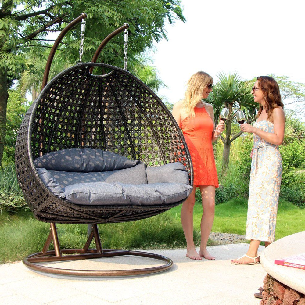 Most Current Pin On Patio Loveseat With Regard To 2 Person Black Wood Outdoor Swings (Gallery 25 of 30)