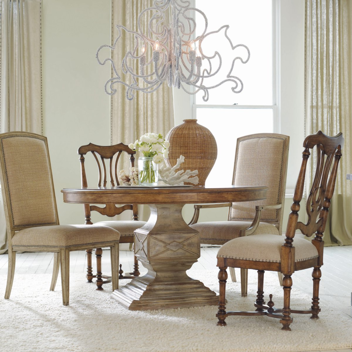Most Current Small Round Dining Tables With Reclaimed Wood Intended For White Round Pedestal Dining Table Dining Rooms Wonderful (Gallery 21 of 30)