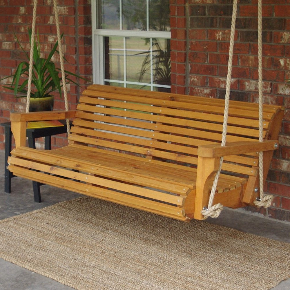 Most Current Tmp Outdoor Furniture Contoured Classic Red Cedar Porch Intended For Contoured Classic Porch Swings (Gallery 4 of 30)