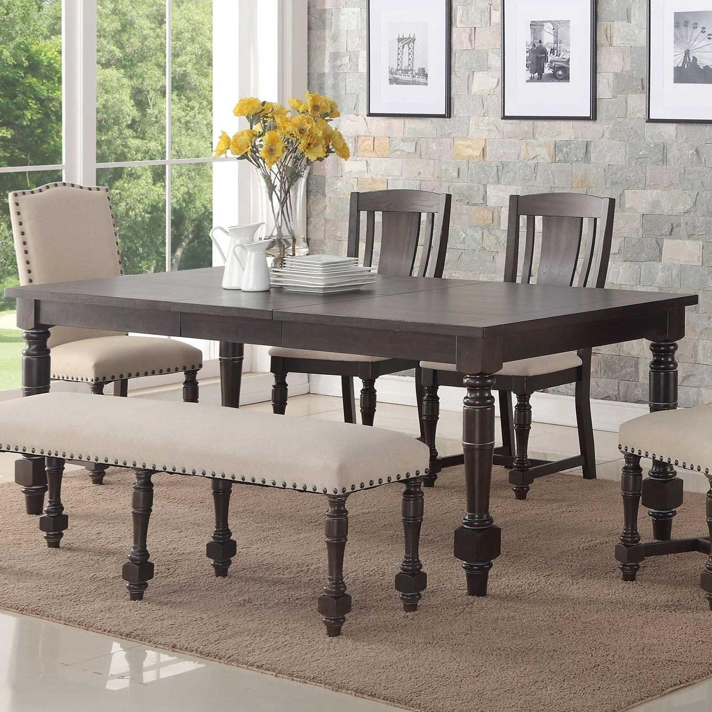 Most Current Transitional Rectangular Dining Tables Inside Xcalibur Rectangular Dining Table (View 11 of 30)