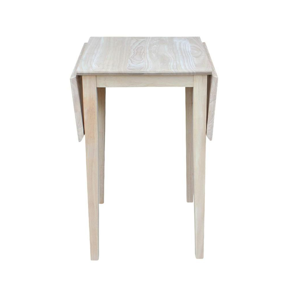 Most Current Unfinished Drop Leaf Casual Dining Tables Throughout Details About International Concepts Small Drop Leaf Wood Unfinished Dining Table (View 2 of 30)