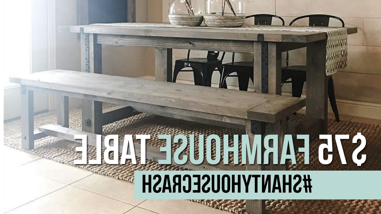 Most Popular $75 Farmhouse Dining Table Build (View 12 of 30)