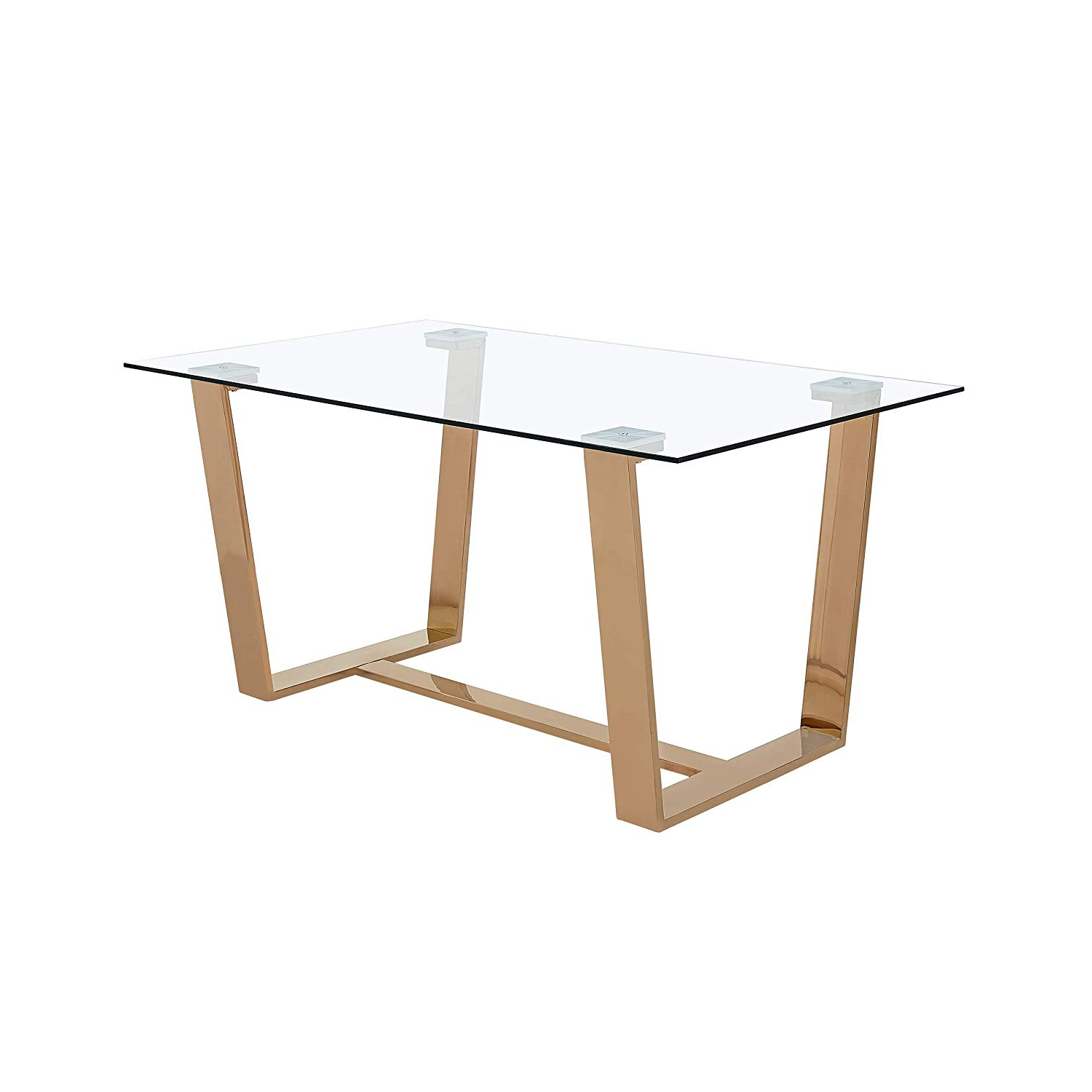 Most Popular Amazon – Christopher Knight Home Kit Modern Tempered With Modern Gold Dining Tables With Clear Glass (View 2 of 30)