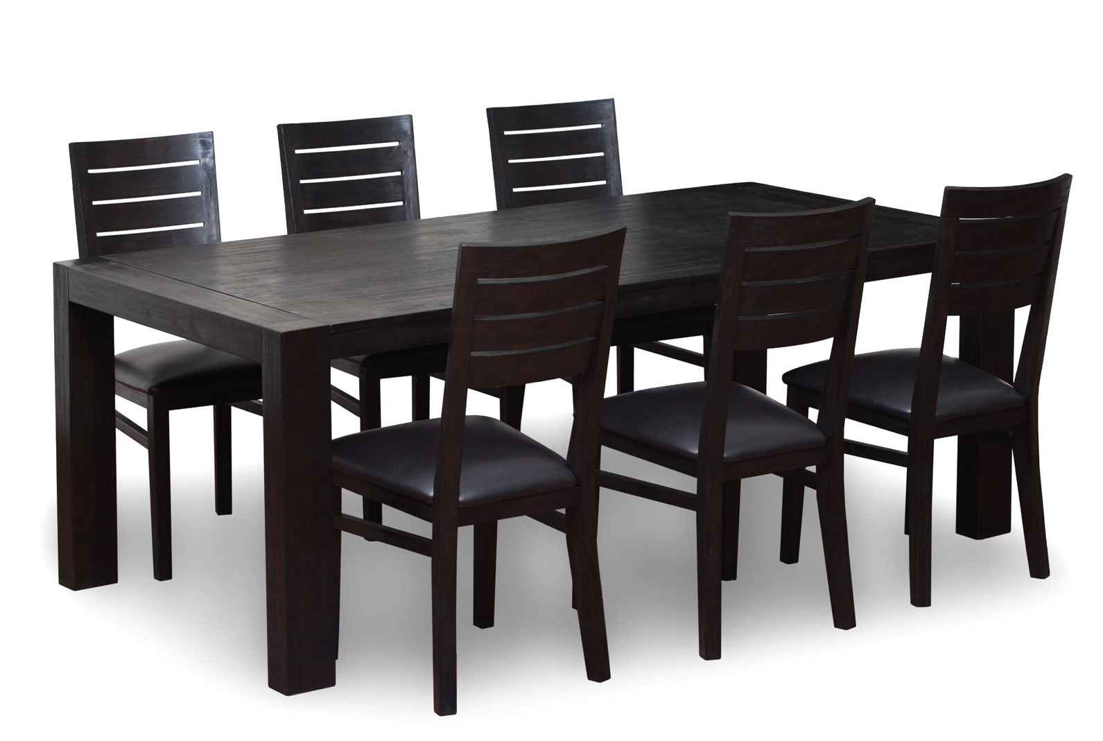 Most Popular Antique Black Wood Kitchen Dining Tables With Black Wood Kitchen Table Solid Stripes Lacquered Brown (View 14 of 30)