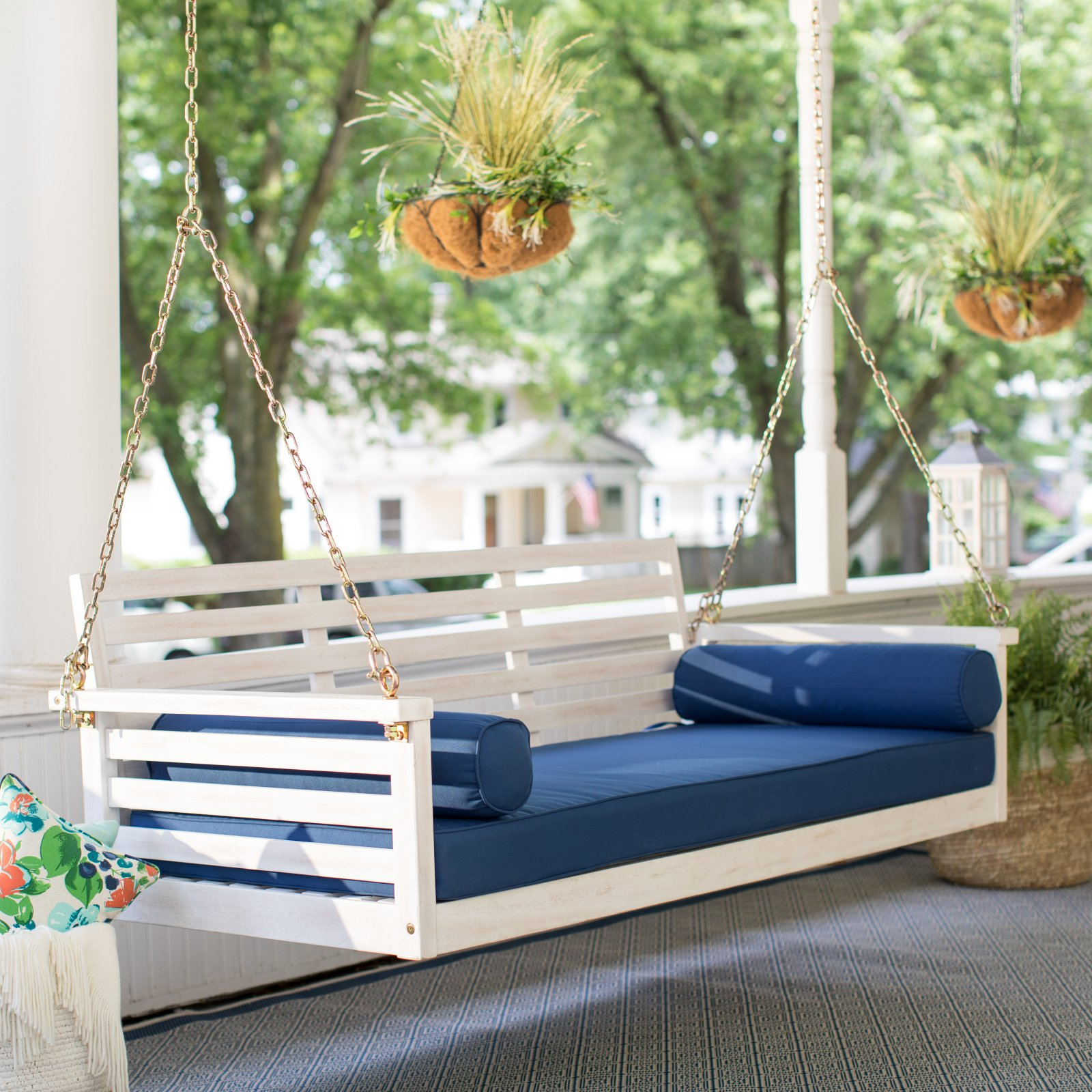 Most Popular Belham Living Brighton Beach Deep Seating Porch Swing Bed Intended For Nautical Porch Swings (View 9 of 30)
