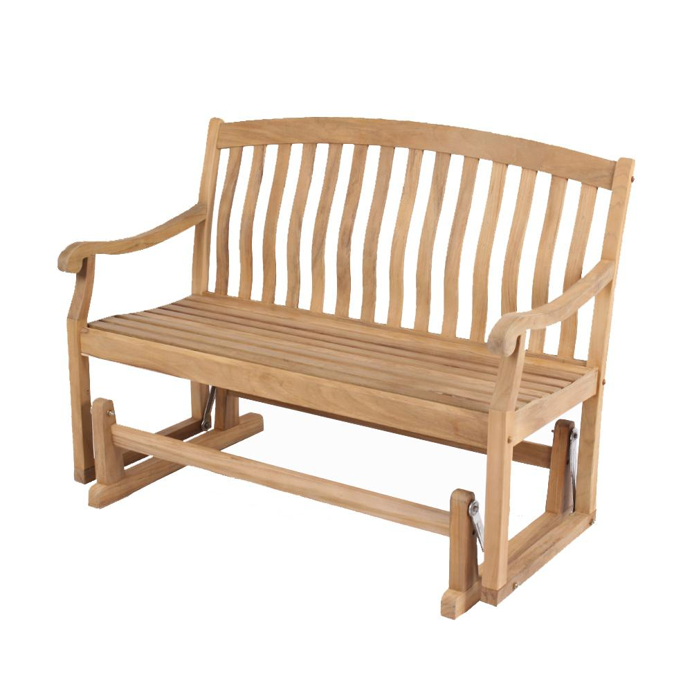 Most Popular Cambridge Casual Colton Teak Wood Outdoor Glider Bench Intended For Teak Glider Benches (Gallery 2 of 30)