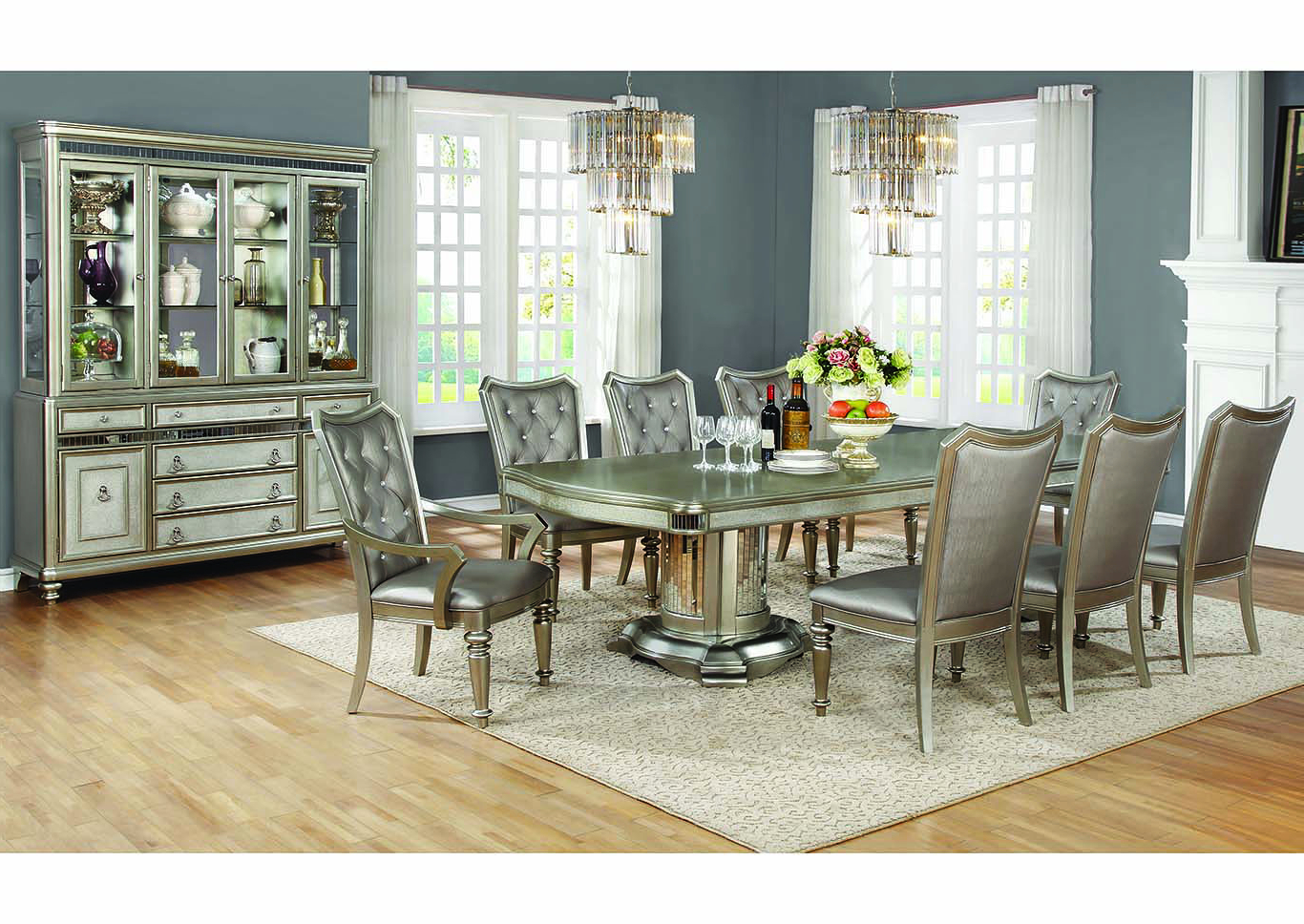 Most Popular Coaster Contemporary 6 Seating Rectangular Casual Dining Tables With Regard To D&n Furniture – Scranton, Pa Metallic Platinum Dining Table (View 21 of 30)