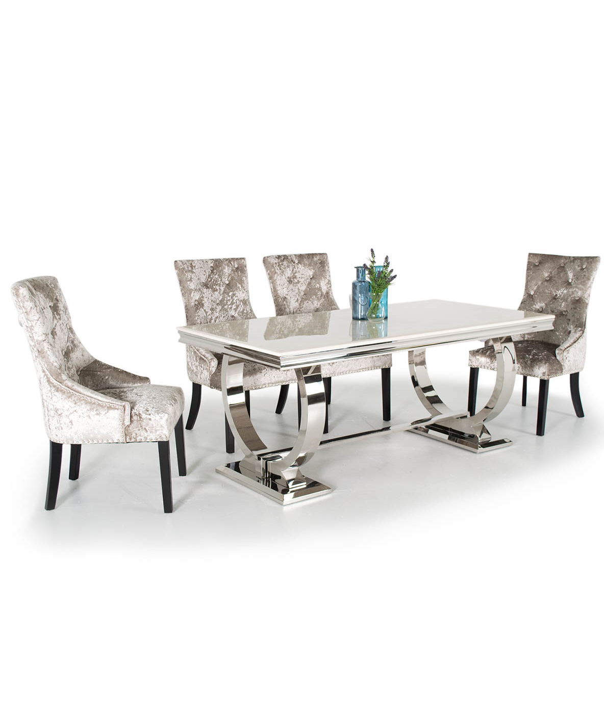 Most Popular Contemporary 6 Seating Rectangular Dining Tables With Regard To Venice Marble Dining Table With 6 Chairs (various Colours (Gallery 7 of 30)