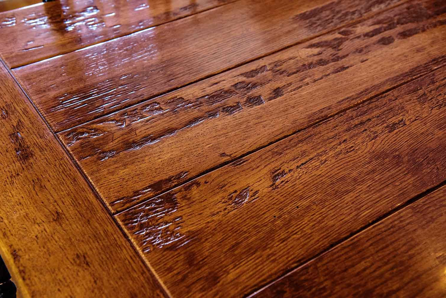 Most Popular Distressed Walnut And Black Finish Wood Modern Country Dining Tables Throughout New England Quarter Sawn White Oak Farm Dining Table (View 23 of 30)