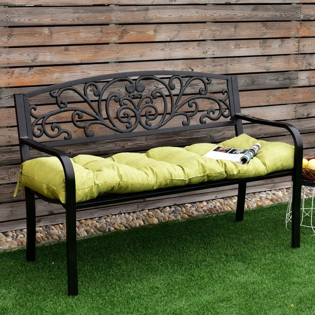 Most Popular Glider Benches With Cushions Throughout Giantex 51 Inch Bench Cushion Tufted Pillow Indoor Outdoor (Gallery 15 of 30)