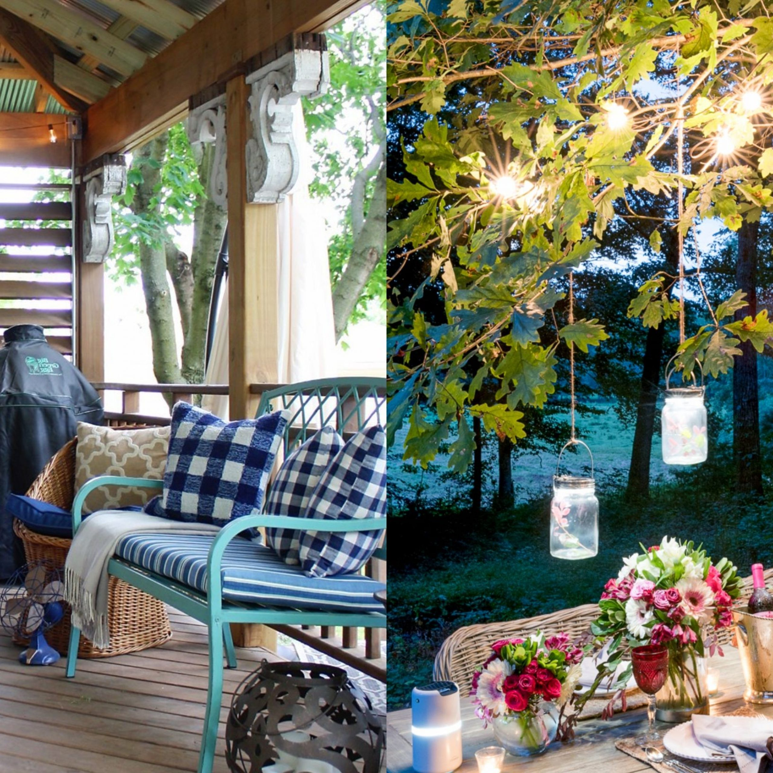 Most Popular Lamp Outdoor Porch Swings Throughout 25 Backyard Lighting Ideas – How To Hang Outdoor String Lights (View 27 of 30)