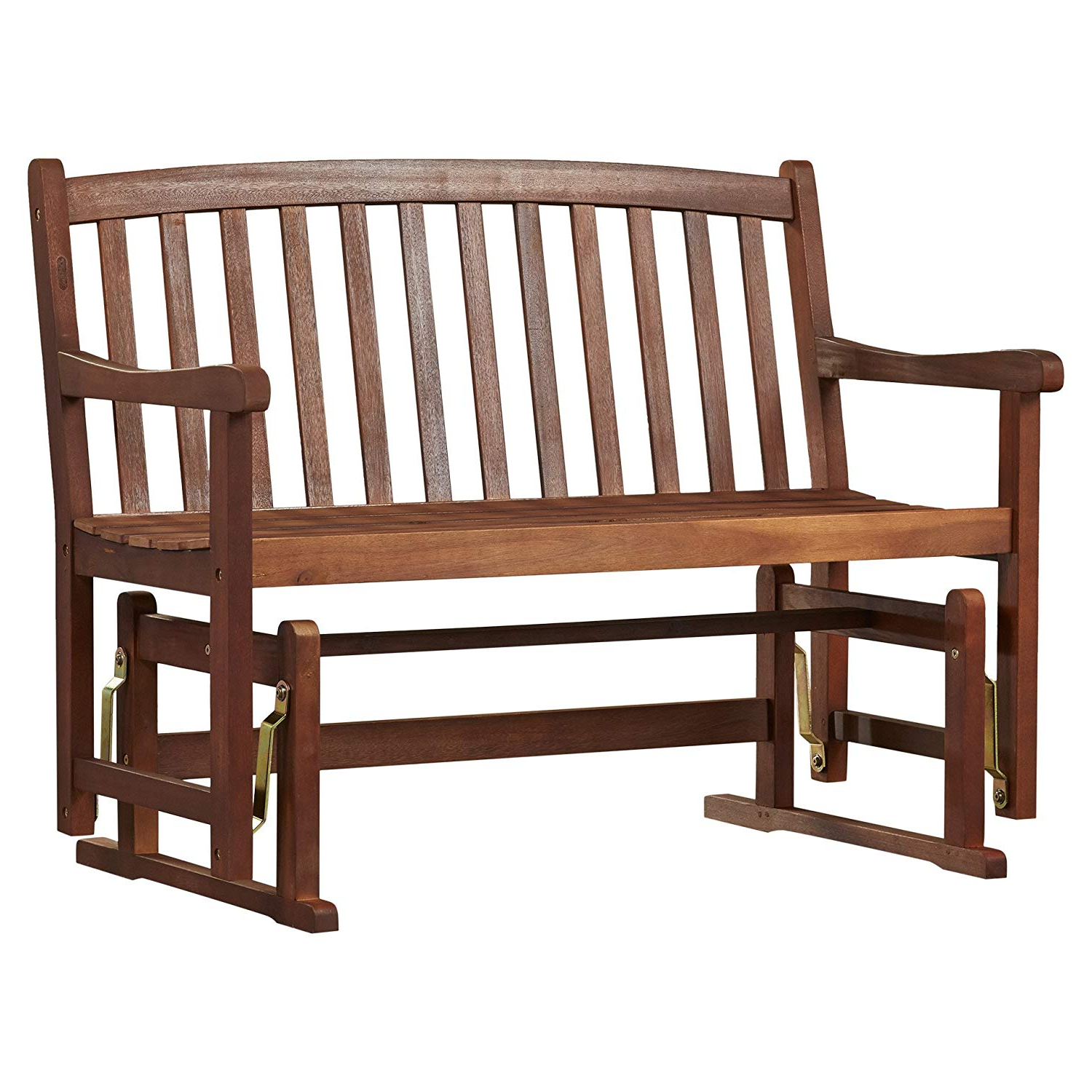 Most Popular Low Back Glider Benches In Amazon : Classic Style Worcester Glider Wood Garden (Gallery 1 of 30)