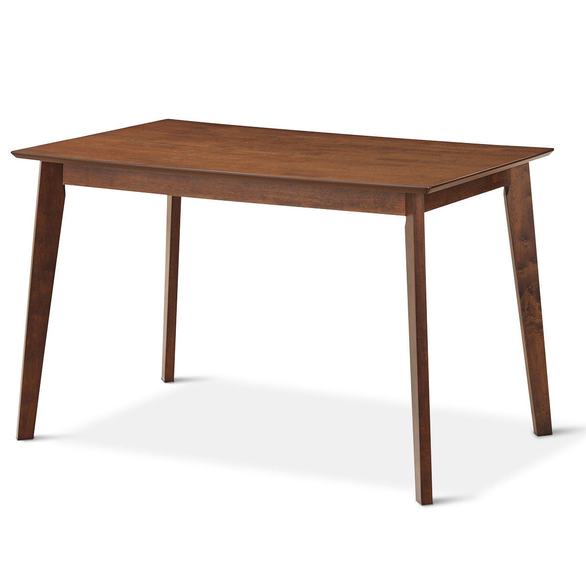 Most Popular Mid Century Rectangular Top Dining Tables With Wood Legs Regarding Gymax Mid Century Modern Dining Table Rectangular Tabletop Dining Room W/  Wood Legs – Walnut (View 21 of 30)